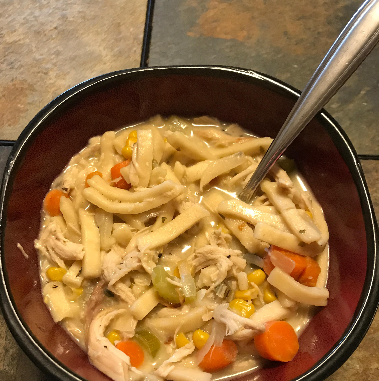 Creamy Chicken Egg Noodle Soup LaurenKevin Hughes