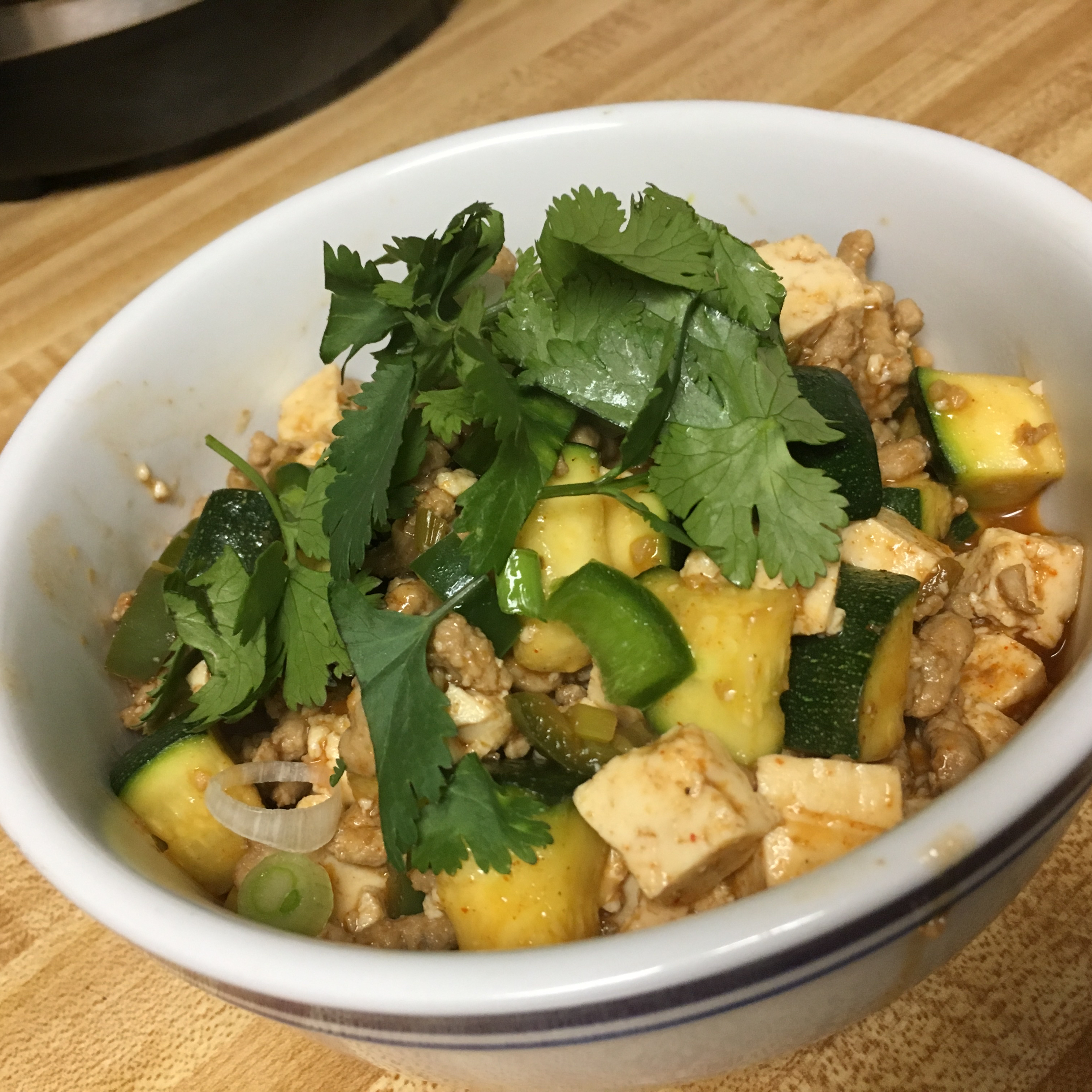 Spicy Pork and Vegetable Tofu Earthdog