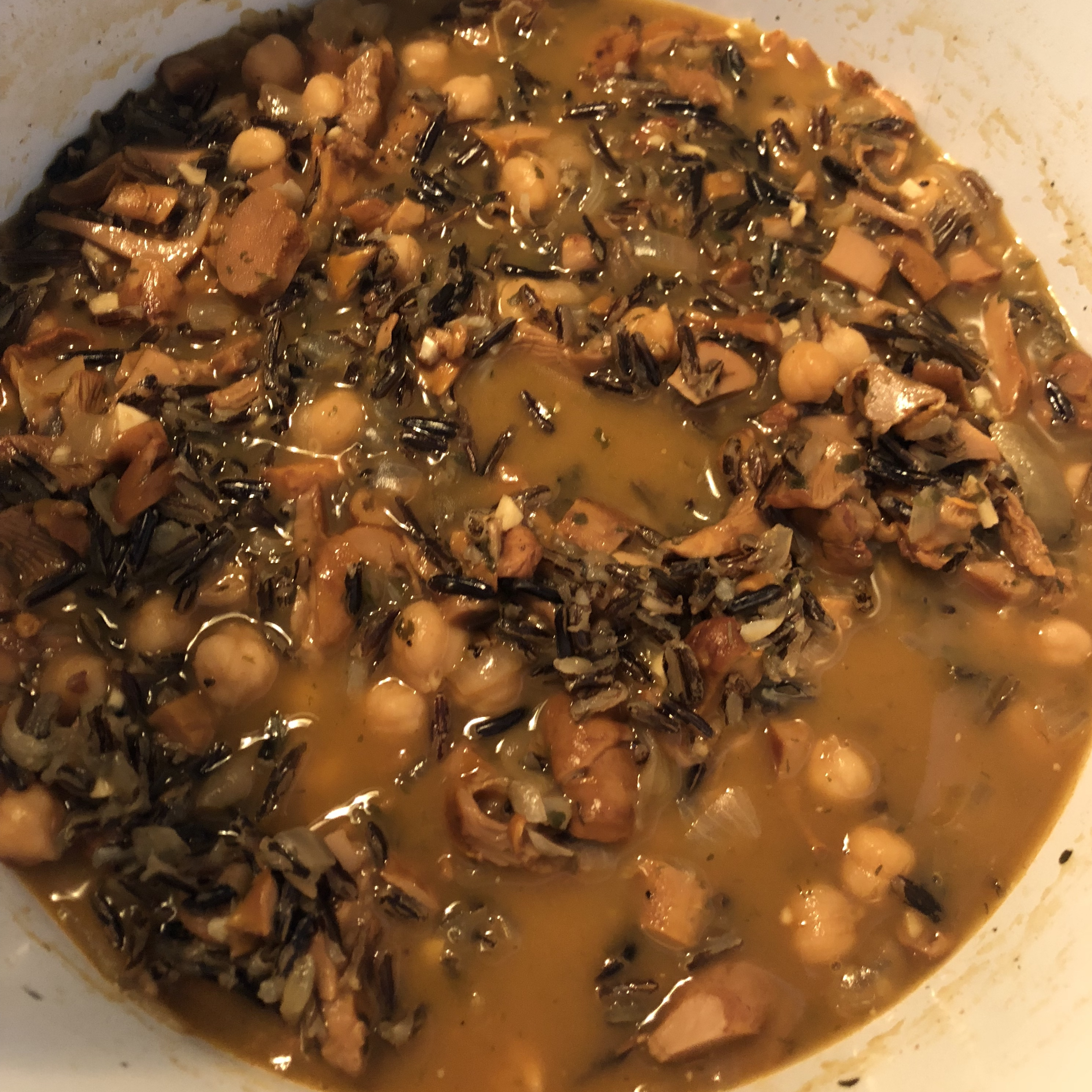 Chanterelle Mushroom and Wild Rice Soup Reesiecup