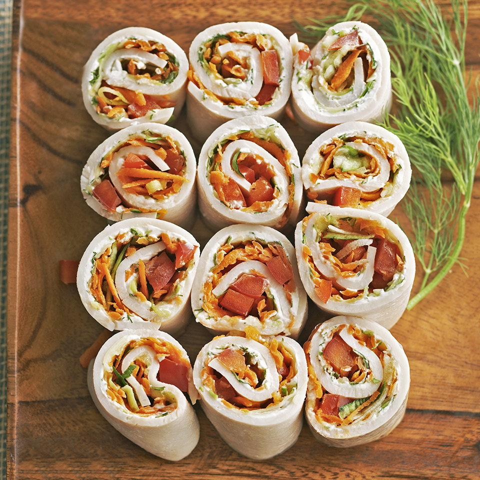 When your kids have friends over after school, whip up these healthy turkey and vegetable roll-ups. They'll be so impressed with the presentation, they may not realize they're so many different vegetables! Source: Diabetic Living Magazine