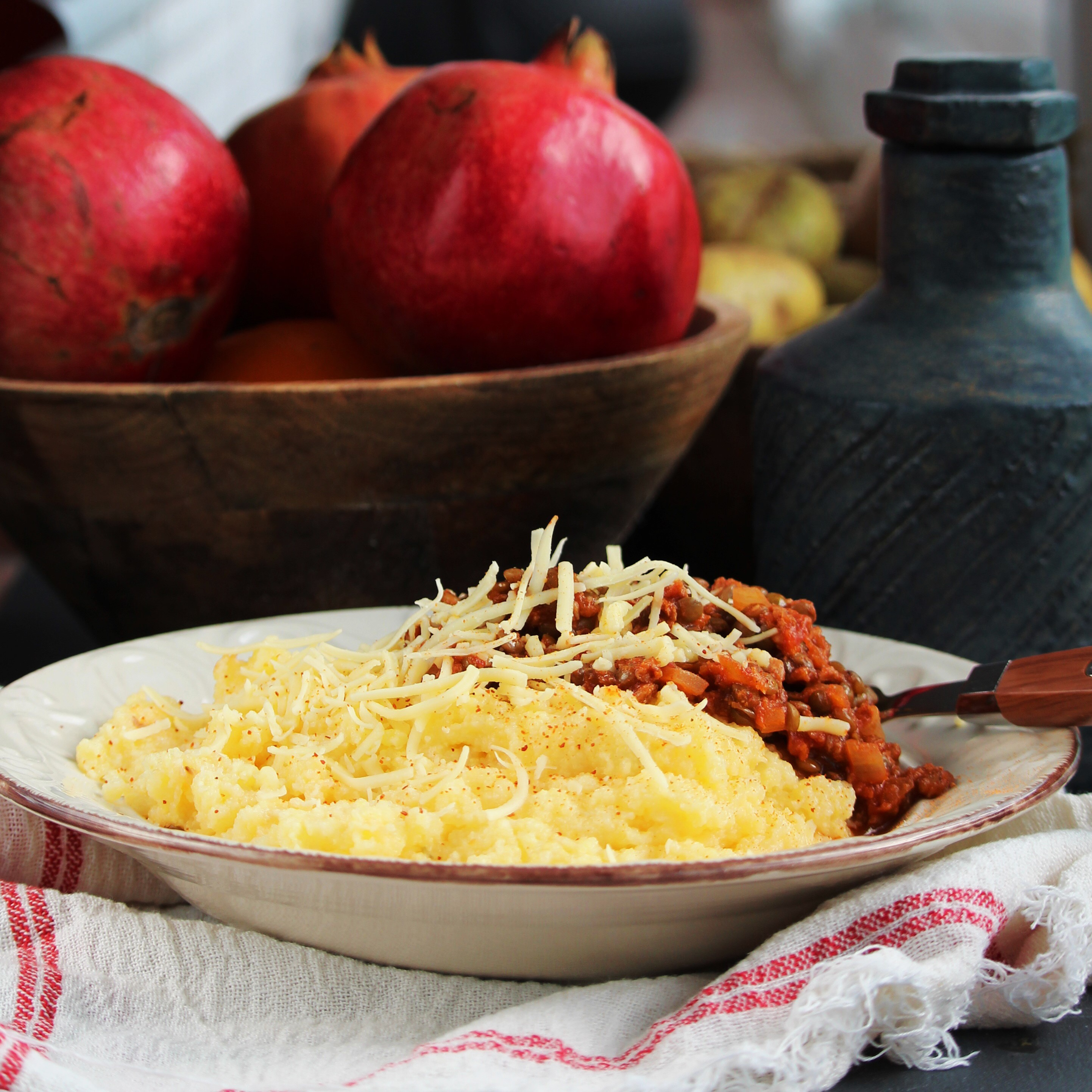 Vegan Polenta with Ragu
