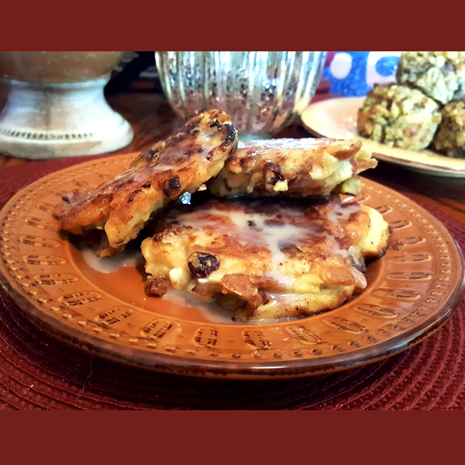 Griddled Holiday Bread Pudding