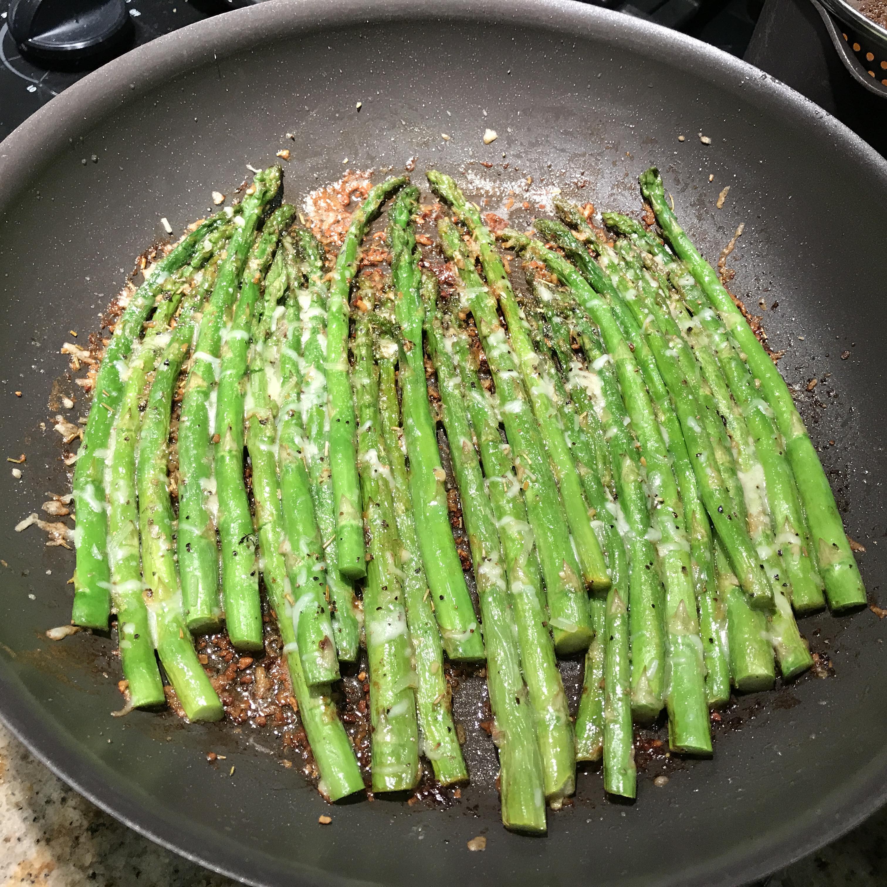 Asparagus Parmesan hapazap