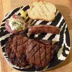 Rib Eye Steaks with a Soy and Ginger Marinade