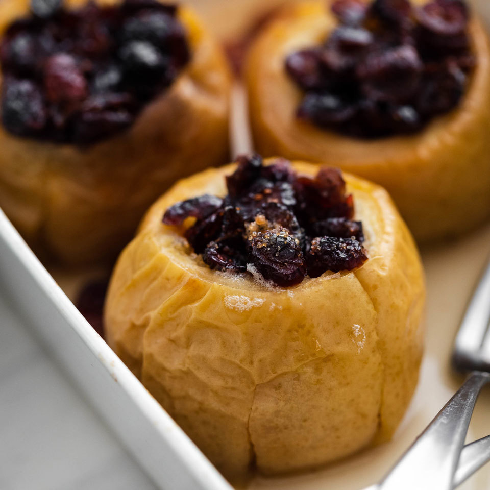 Cranberry Baked Apples EatingWell Test Kitchen