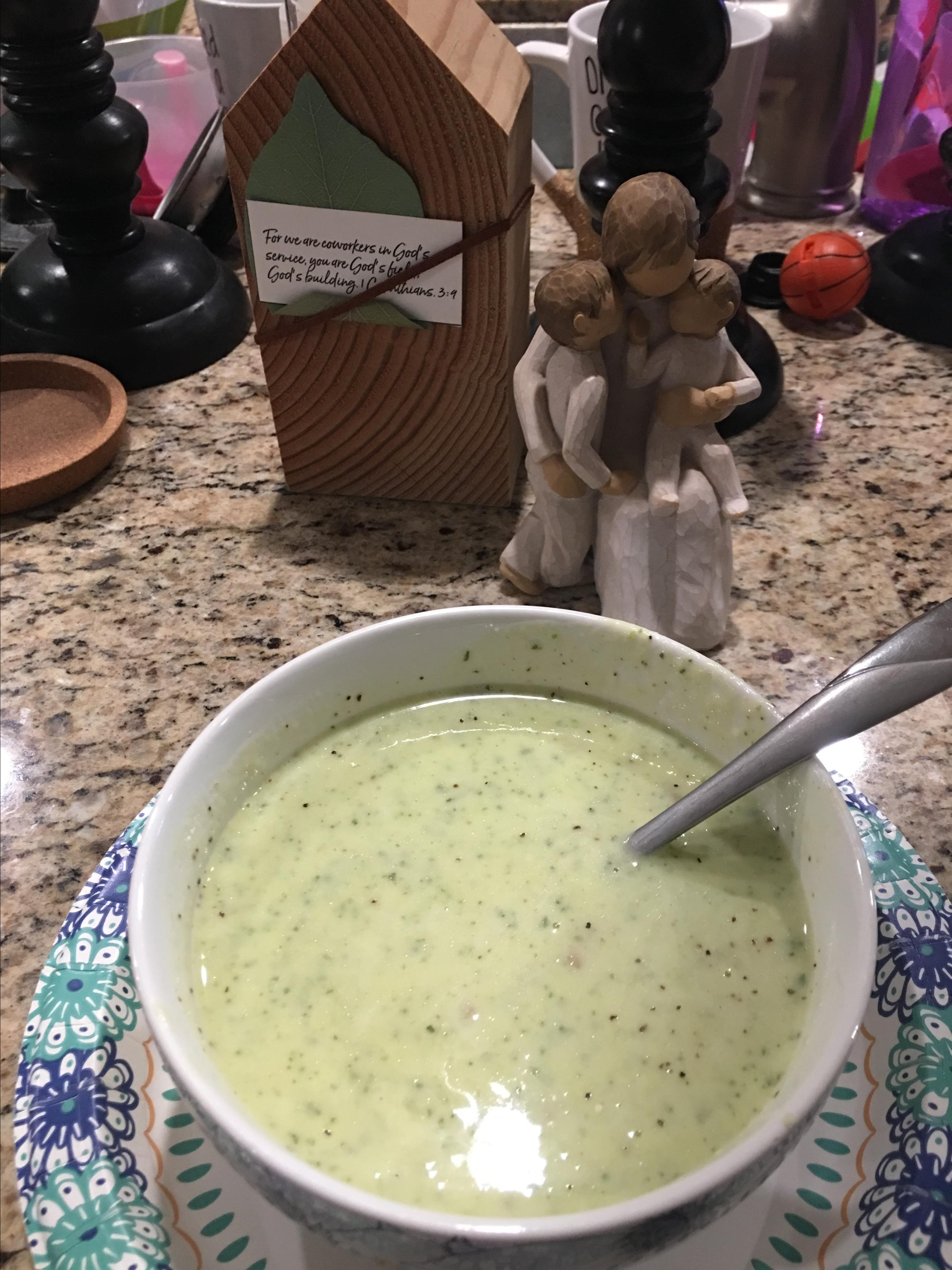 Fast and Easy Zucchini Soup