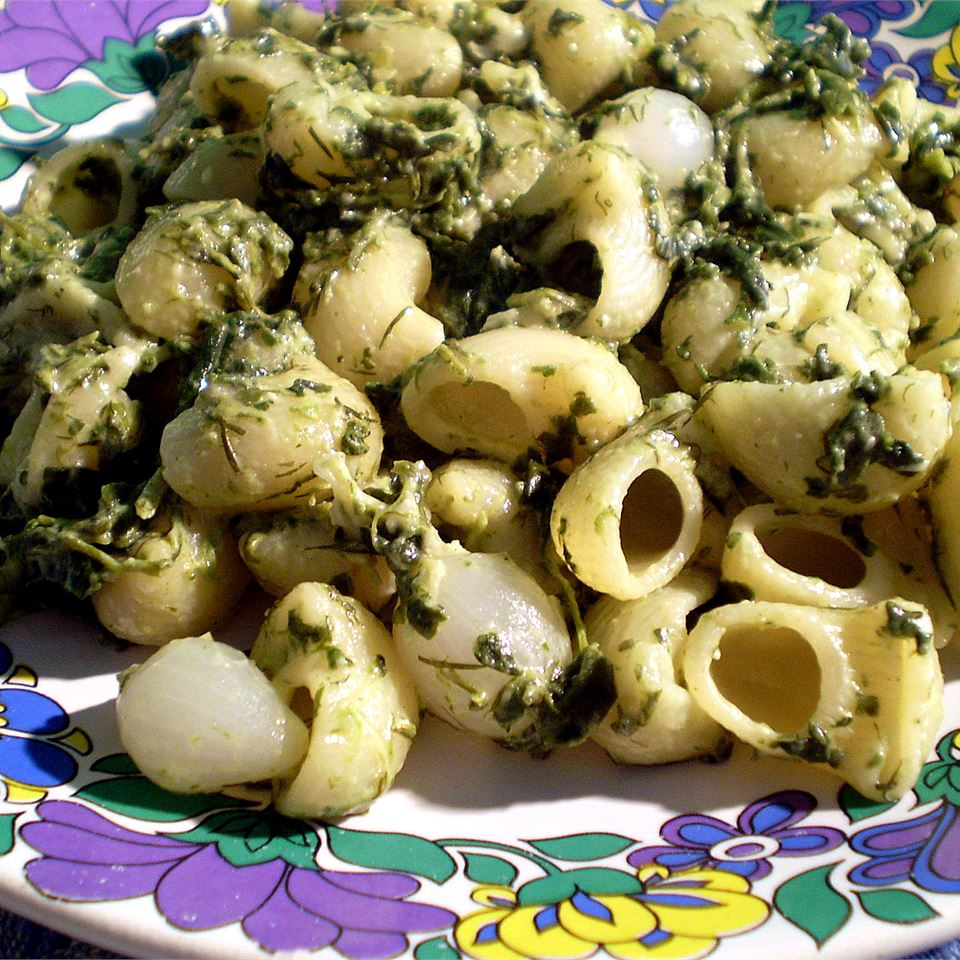 Mostaccioli with Spinach and Feta Cathy Burghardt