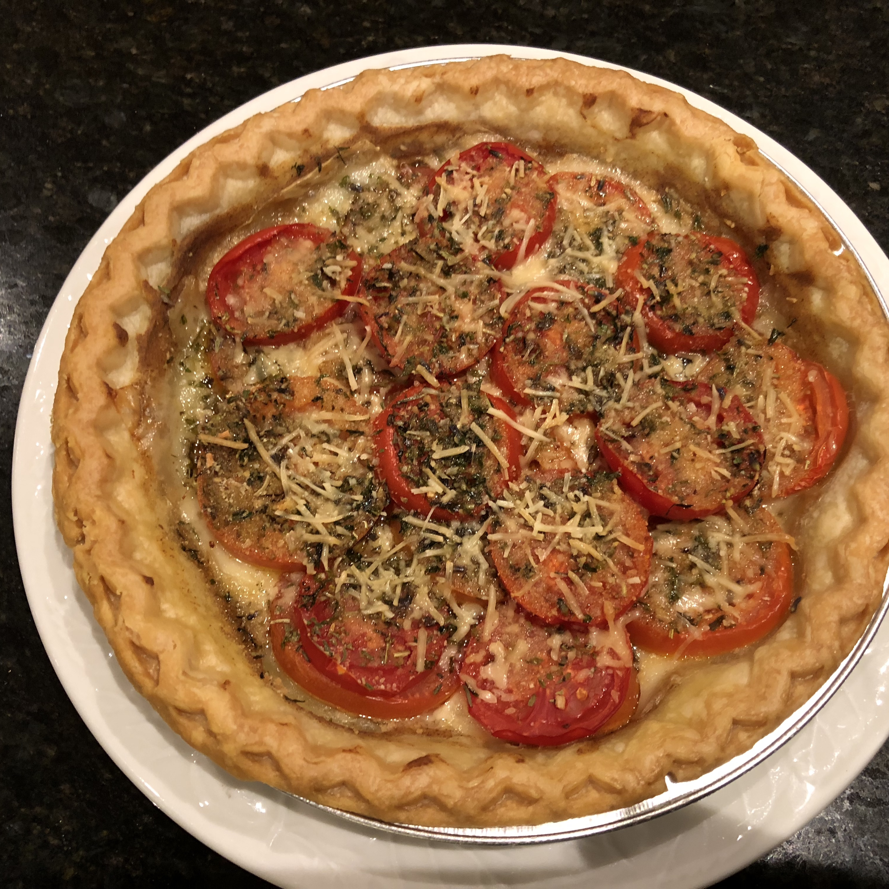 Tarte aux Moutarde (French Tomato and Mustard Pie) PCT