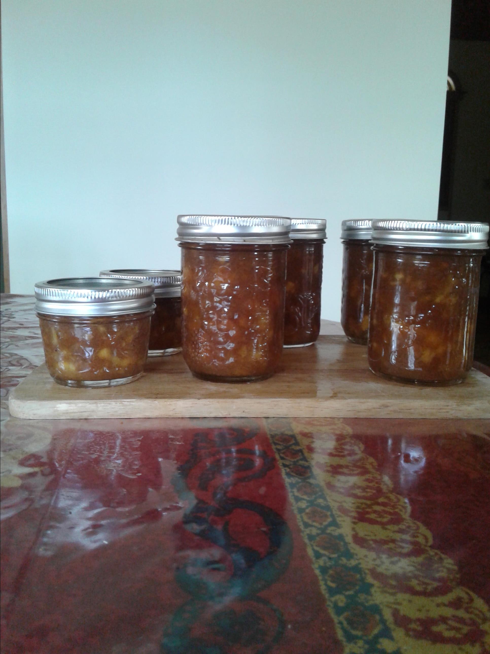 Fresh Spiced Peach Jam