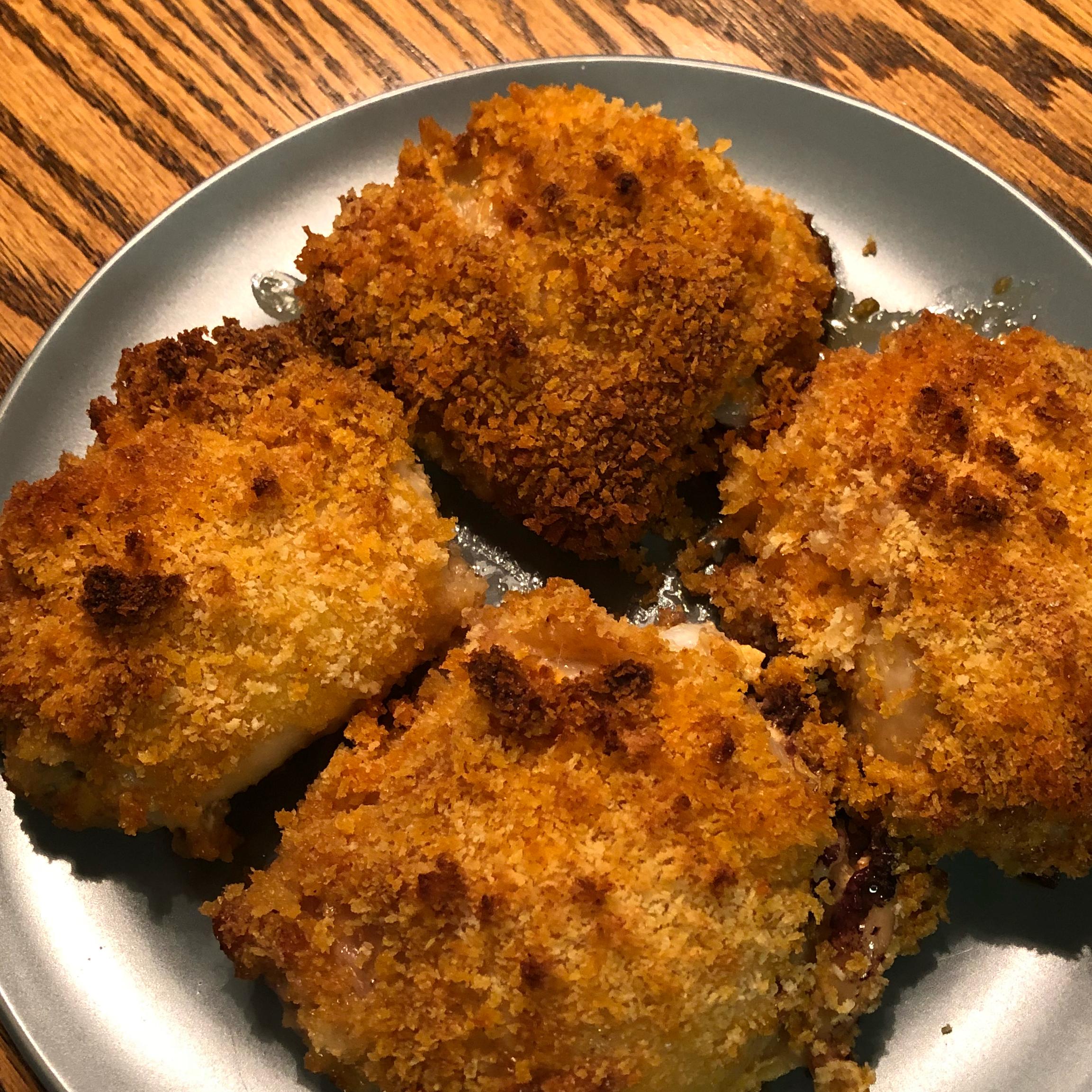 Crispy Panko Chicken Thighs