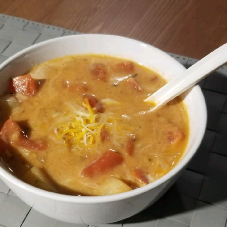 Chunky Tomato Potato Soup Marshmellow