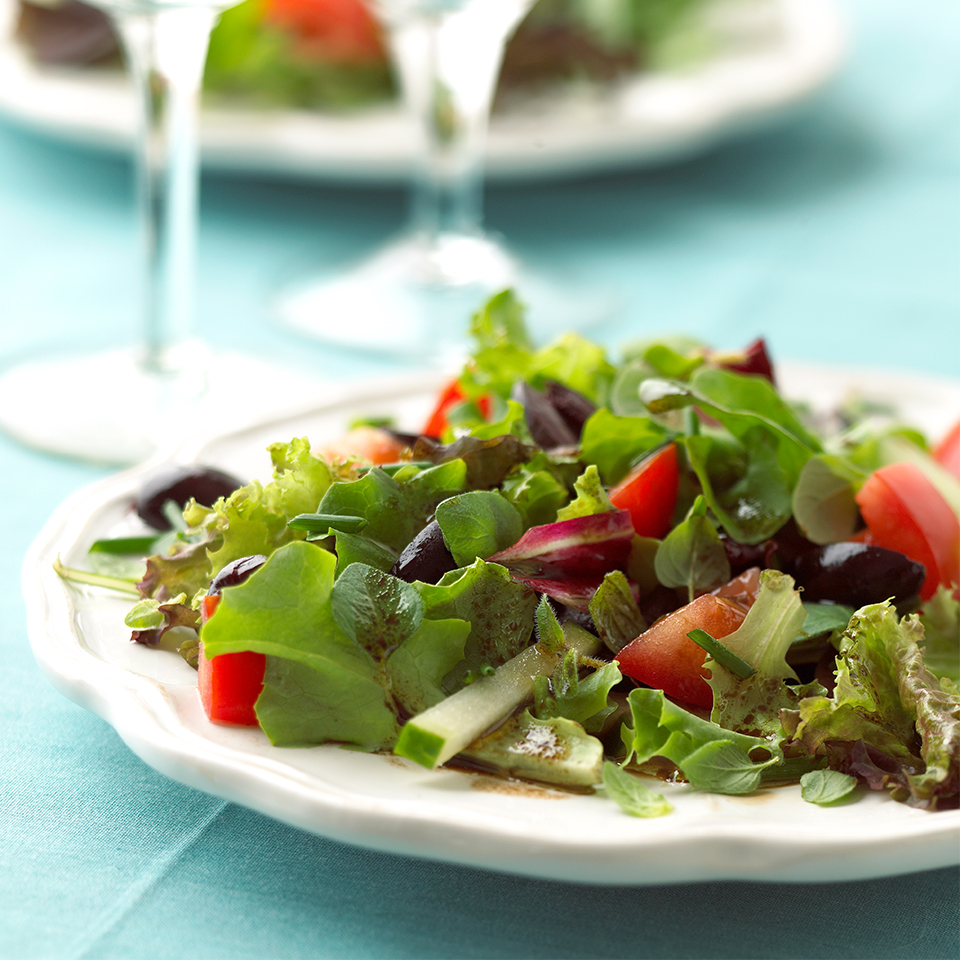 Mixed Greens with Herbed Balsamic Vinaigrette Trusted Brands
