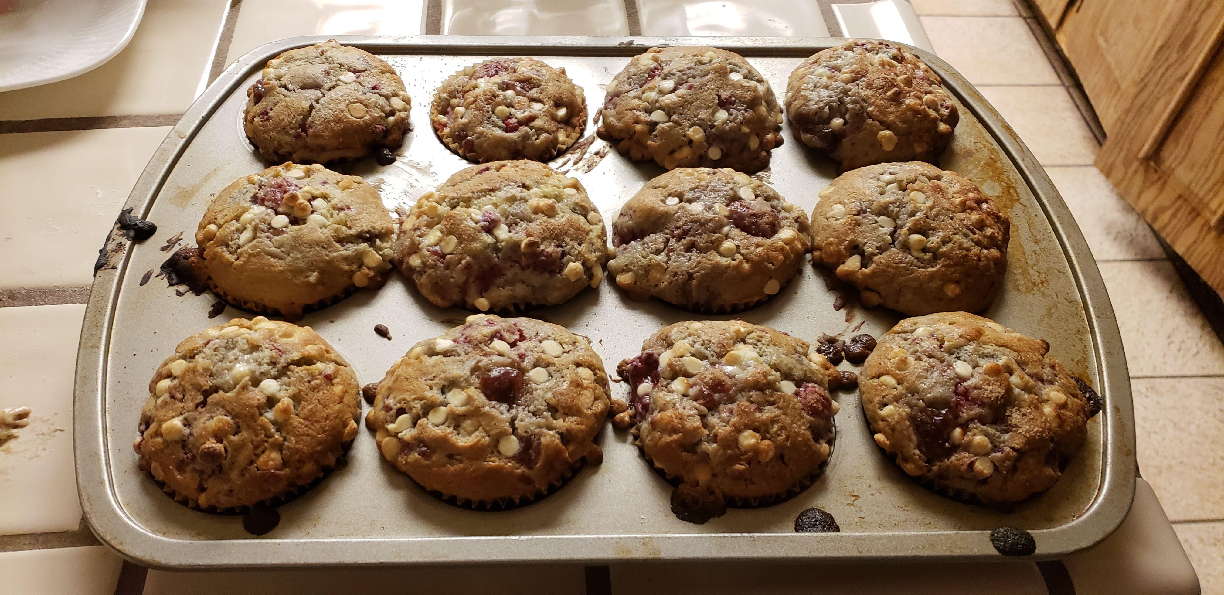 Raspberry-White Chocolate Chip Muffins