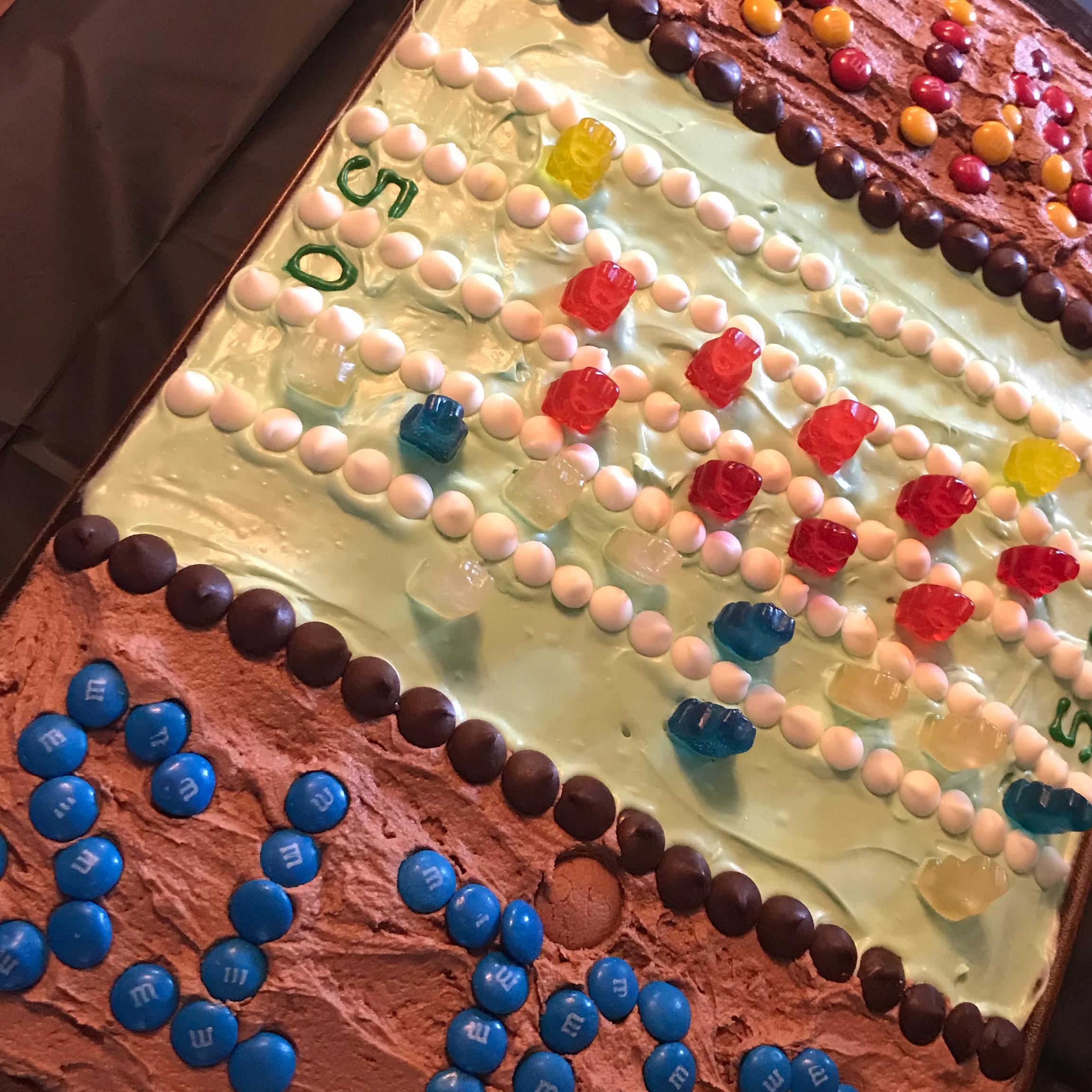 Gridiron Sheet Cake funmom
