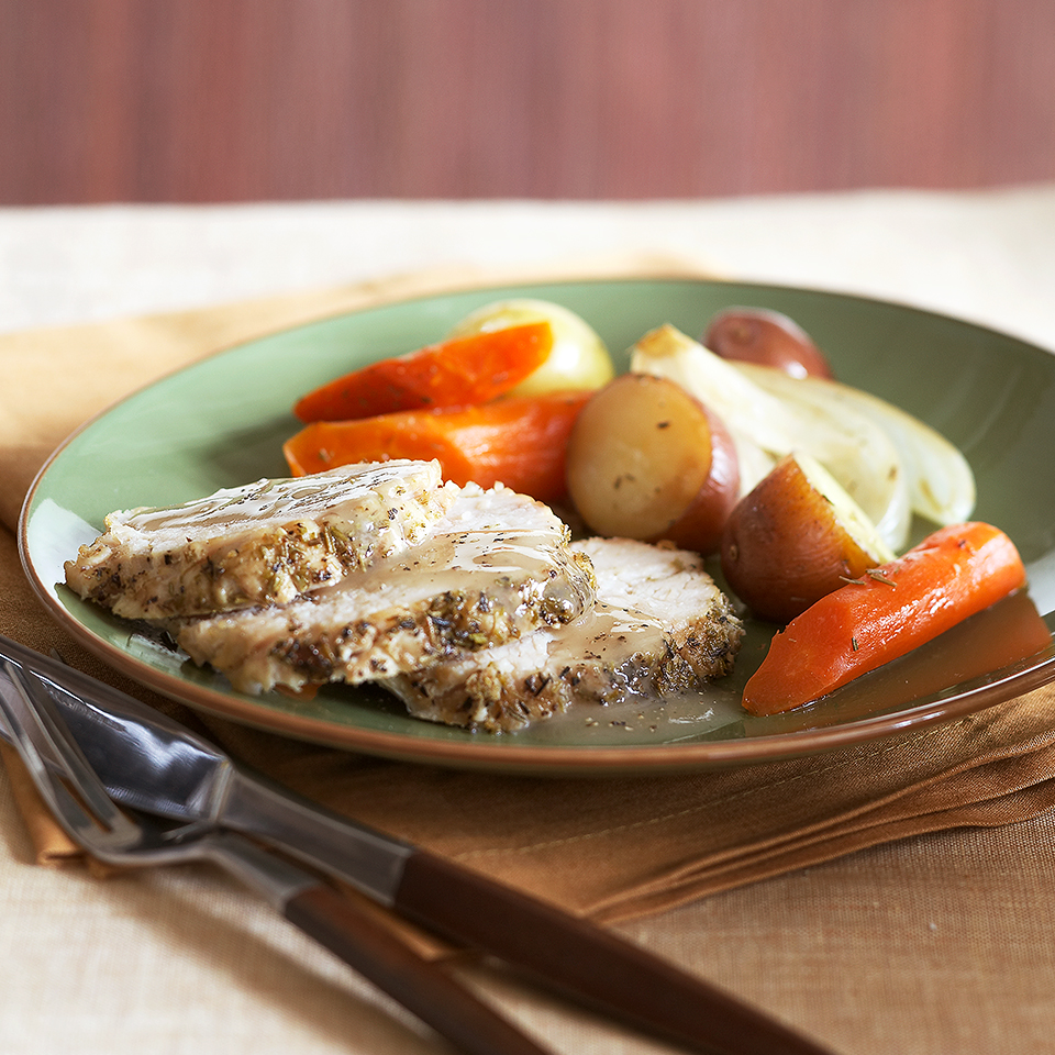 Rosemary Turkey Roast with Vegetables Diabetic Living Magazine
