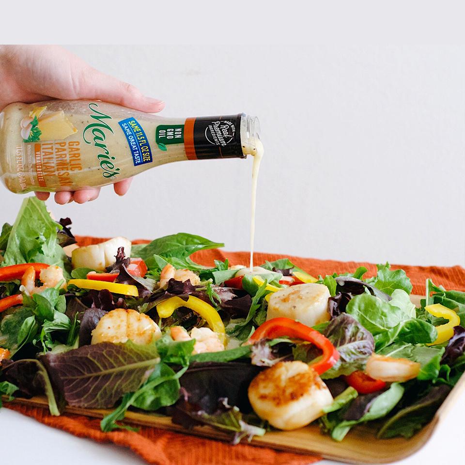 Vinaigrette Scallops and Shrimp Salad
