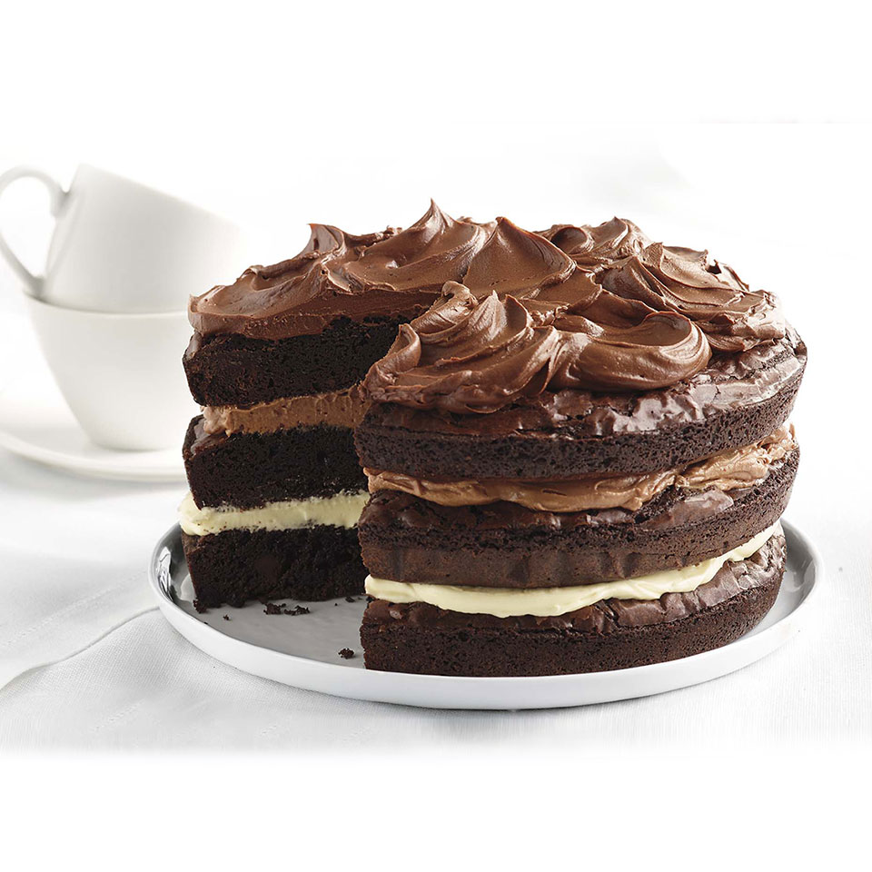 Ghirardelli Ombre Brownie Cake
