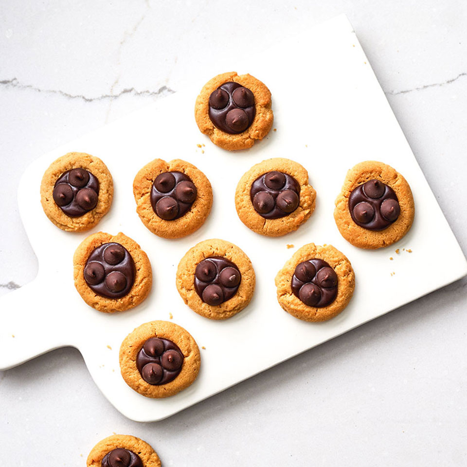 Ghirardelli Chocolate-Peanut Butter Thumbprint Cookies