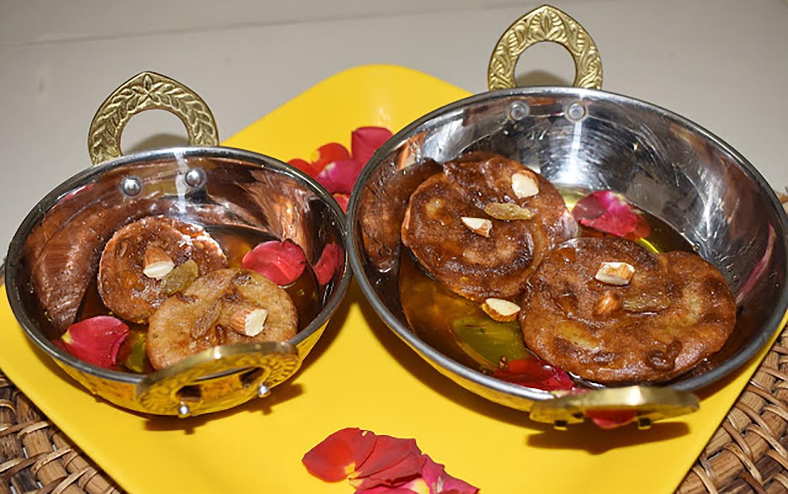 Banana Malpua (Fried Indian Pancake for Diwali)