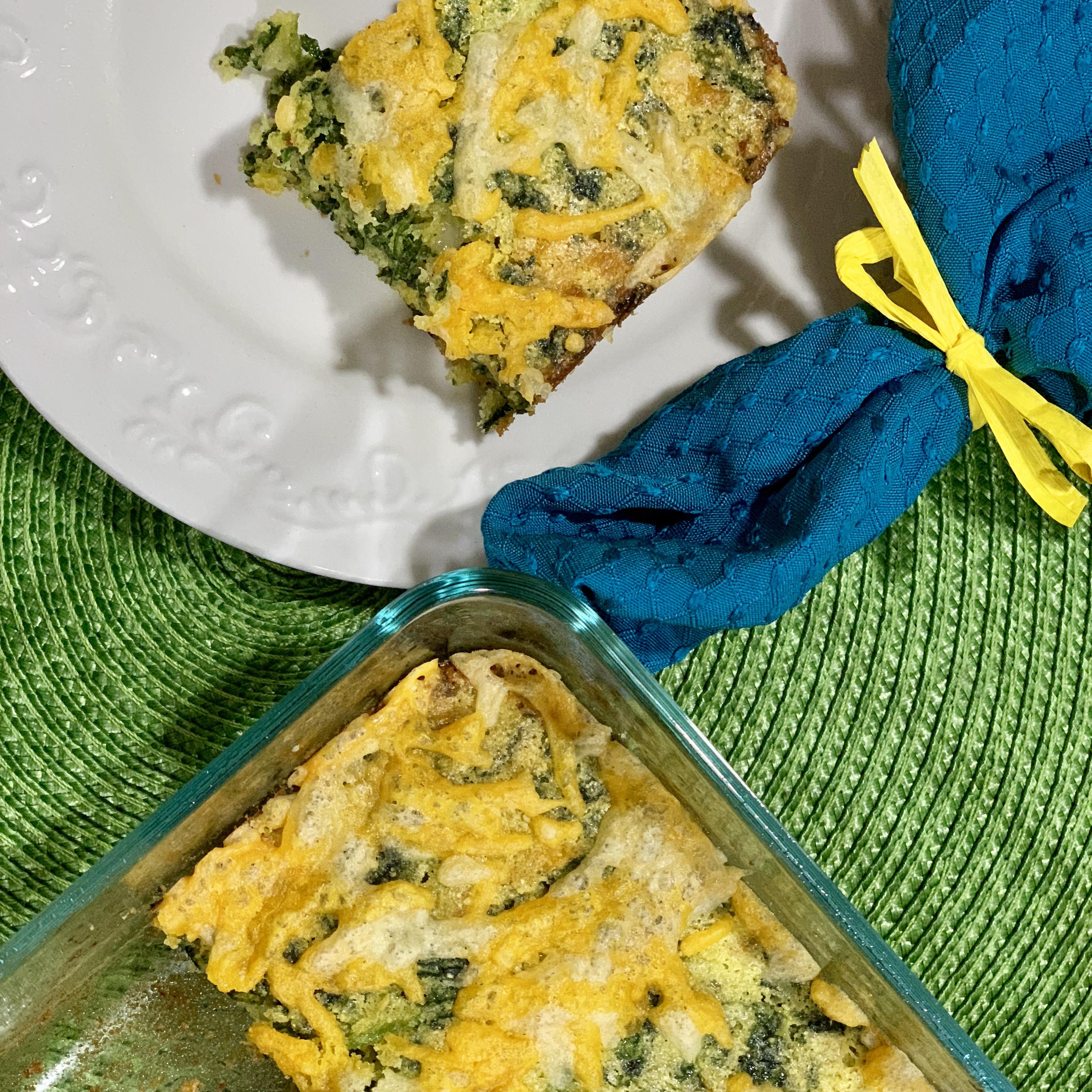 Broccoli Cornbread with Cheese
