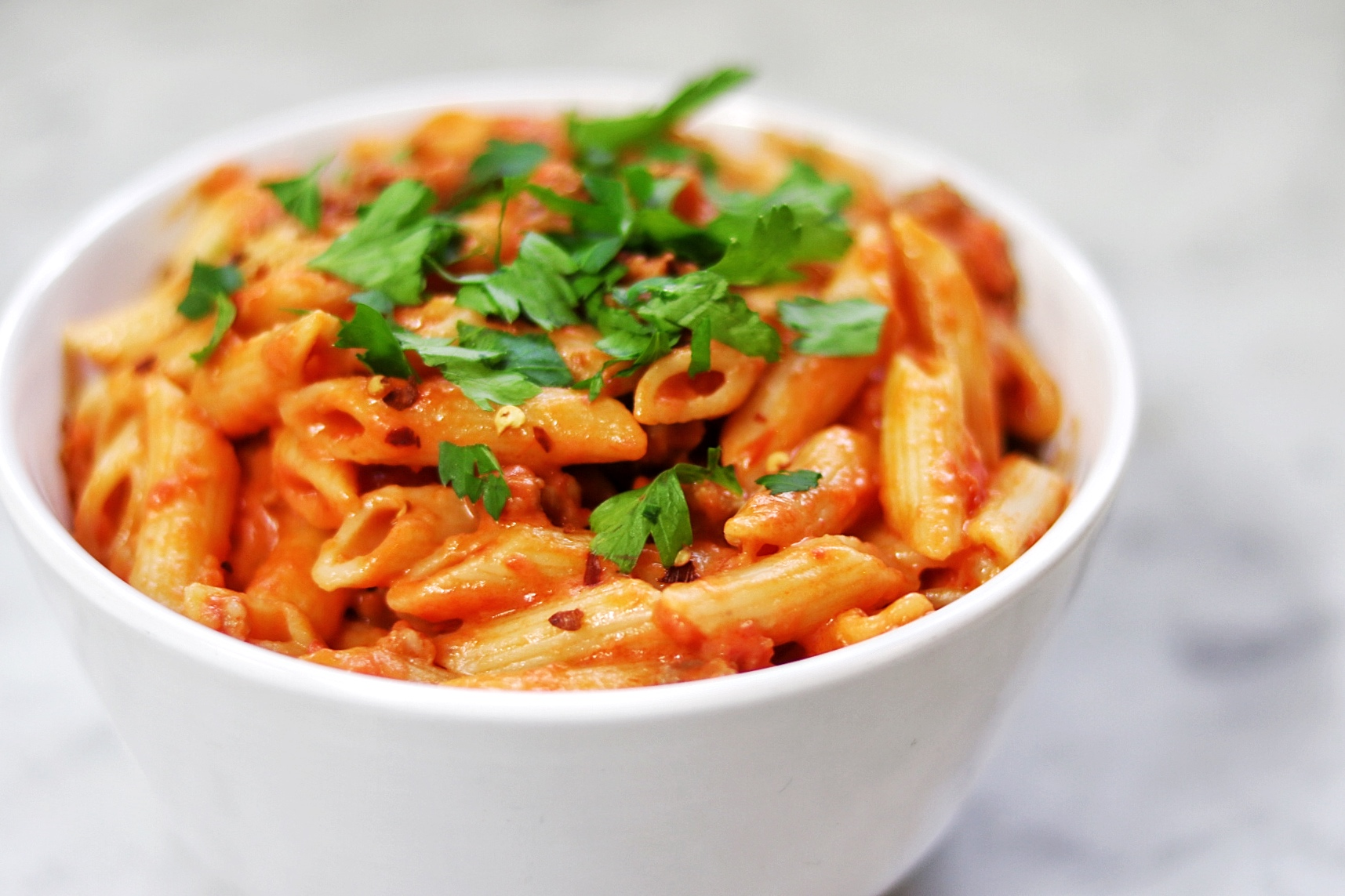 Penne with Spicy Vodka Tomato Cream Sauce Star Pooley