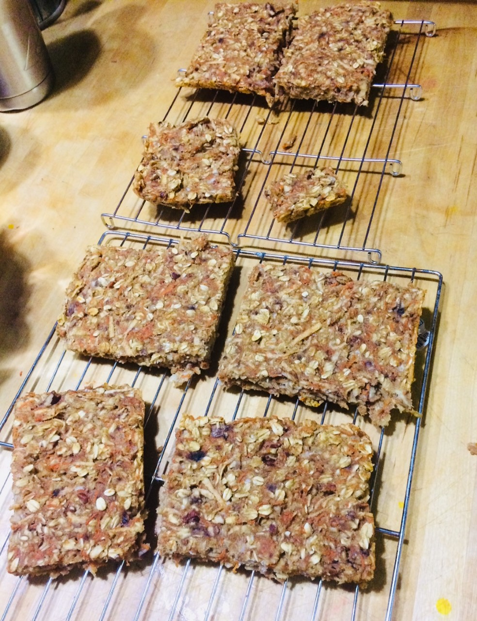 Banana Oat Energy Bars stompykitty