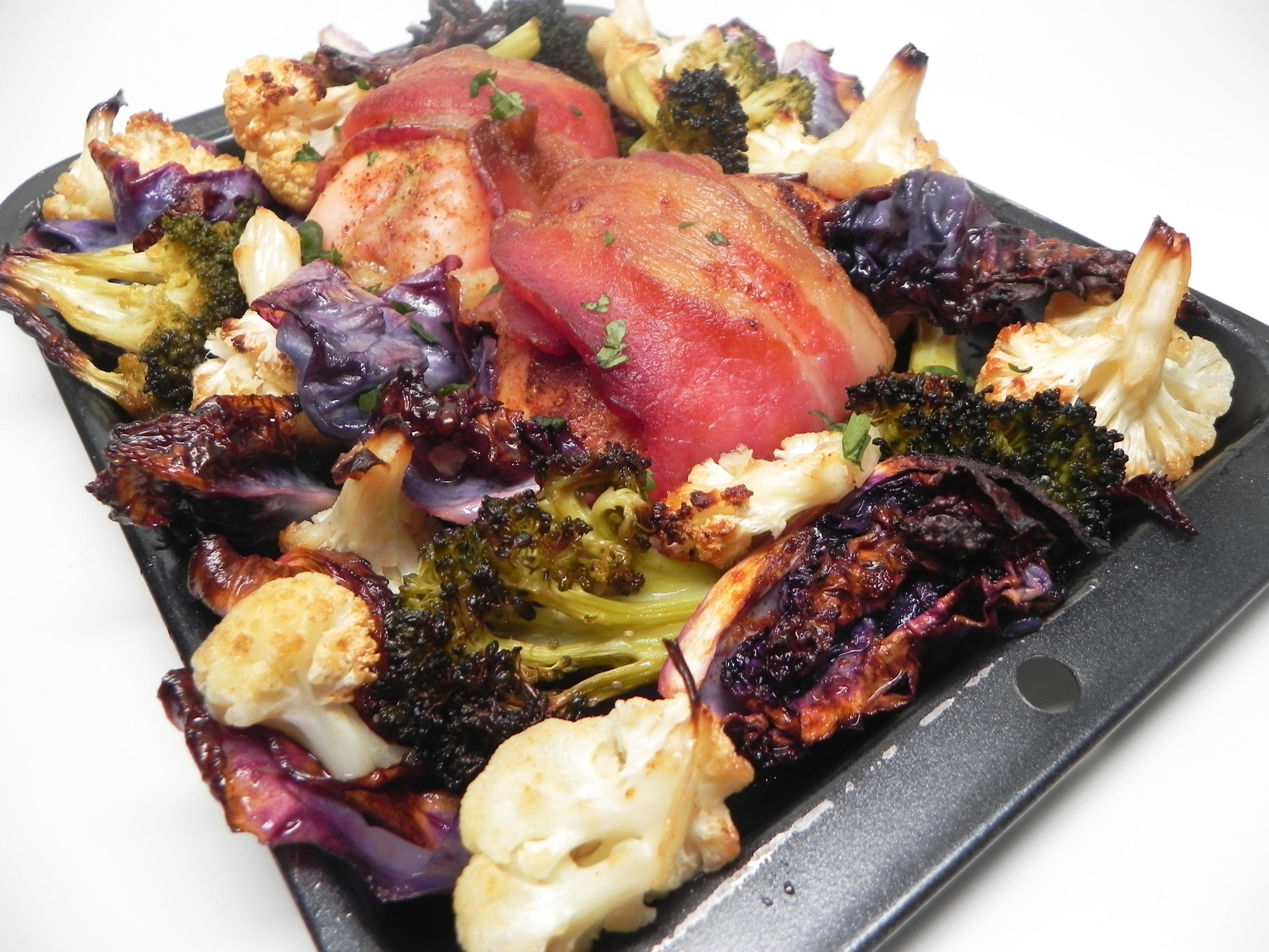 Keto Smoky Chicken and Vegetable Sheet Pan Dinner Soup Loving Nicole