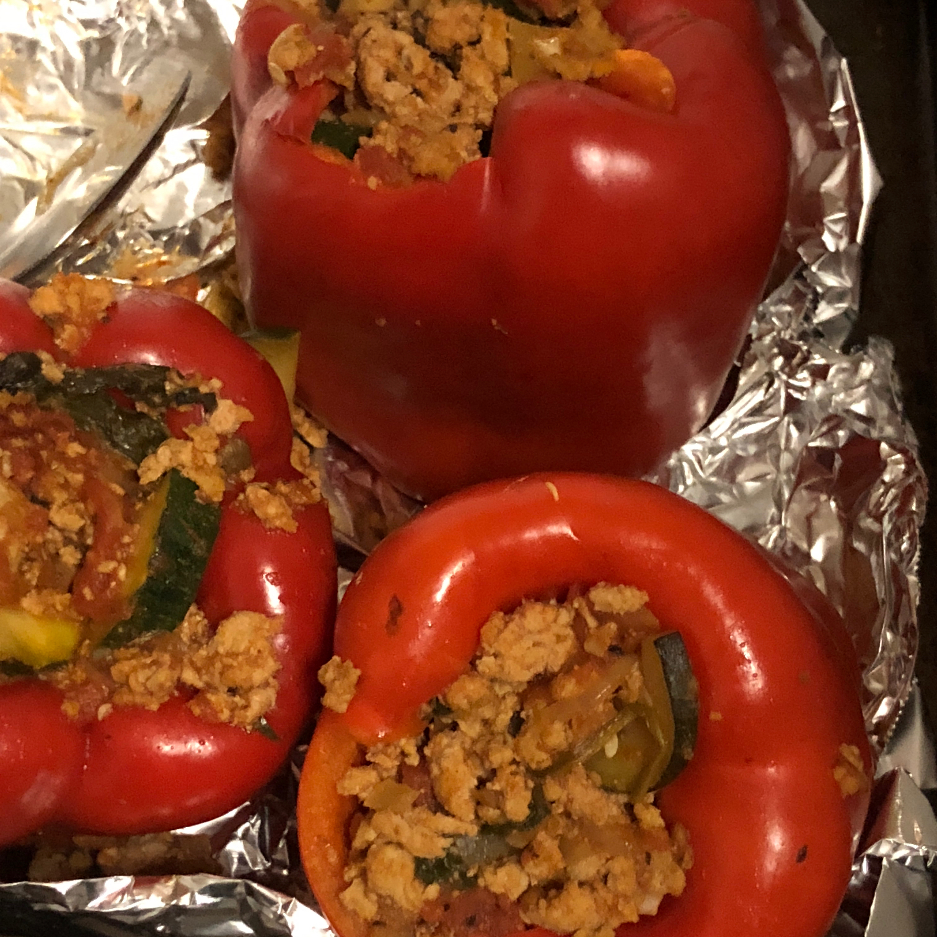 Stuffed Peppers with Turkey and Vegetables BooksNooksYoga
