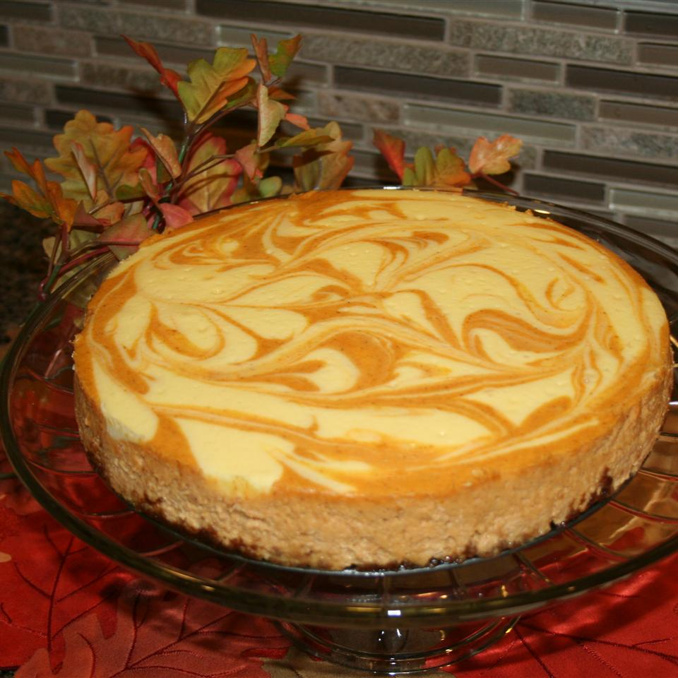 Pumpkin Swirled Cheese Cake
