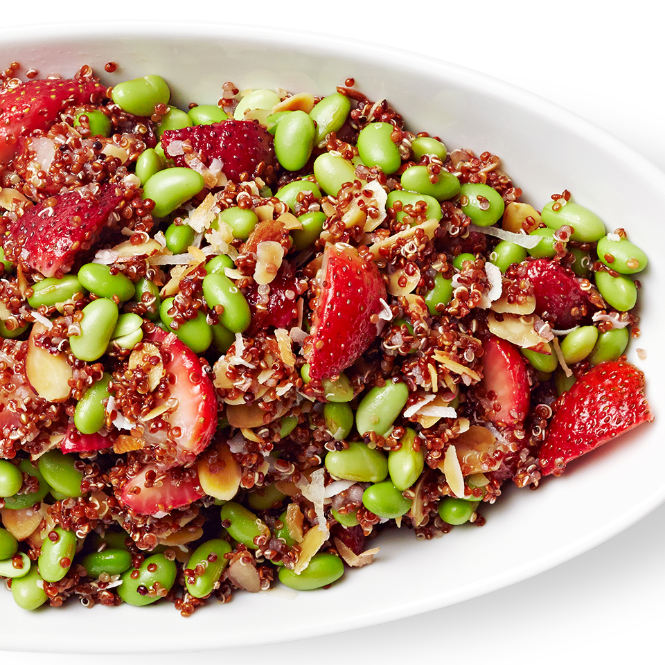 Strawberry, Quinoa & Edamame Salad Diabetic Living Magazine