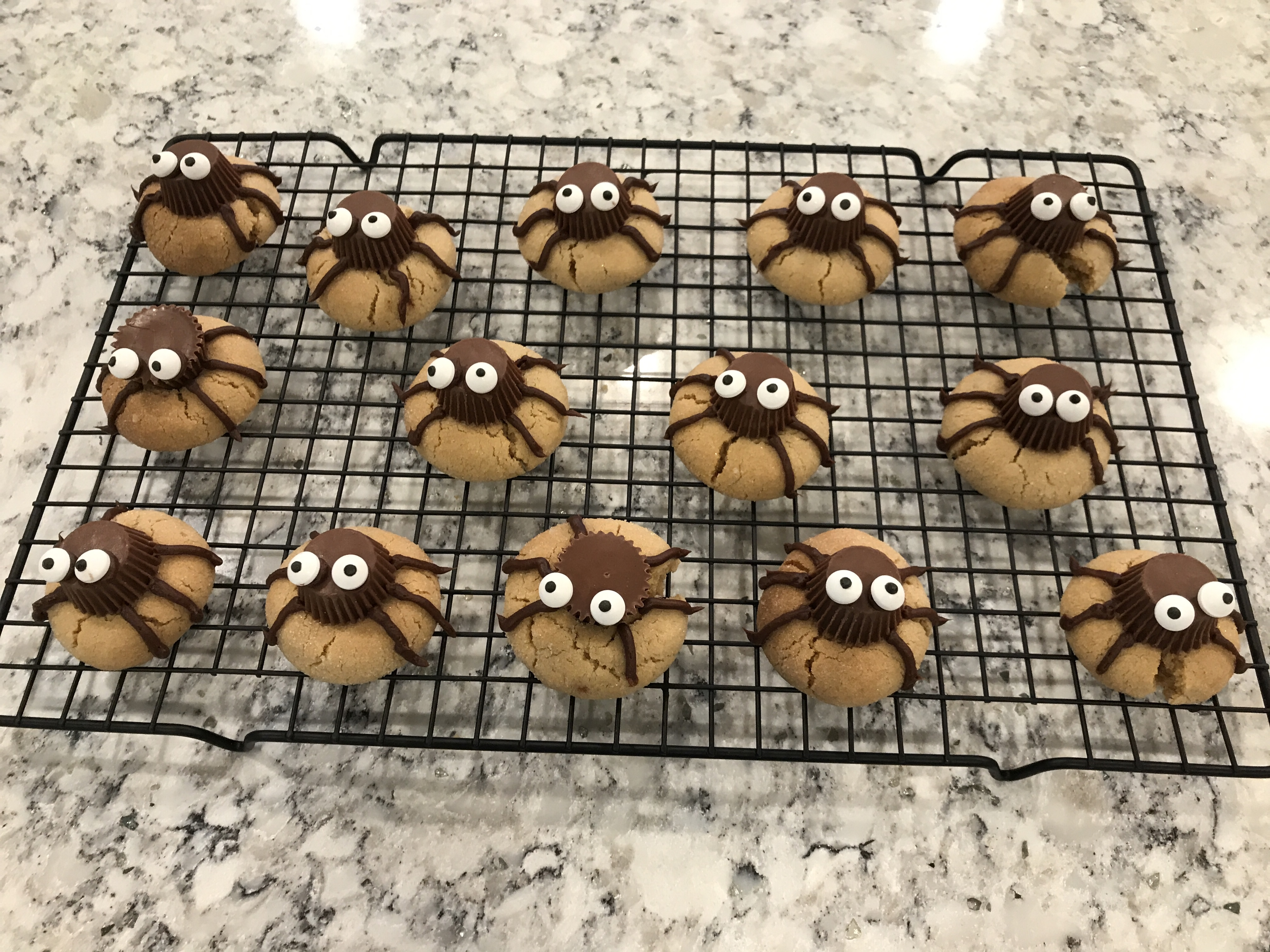 Peanut Butter Spider Cookies shopaholic