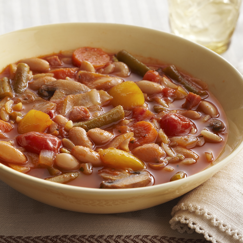 Vegetable & Bean Soup Diabetic Living Magazine