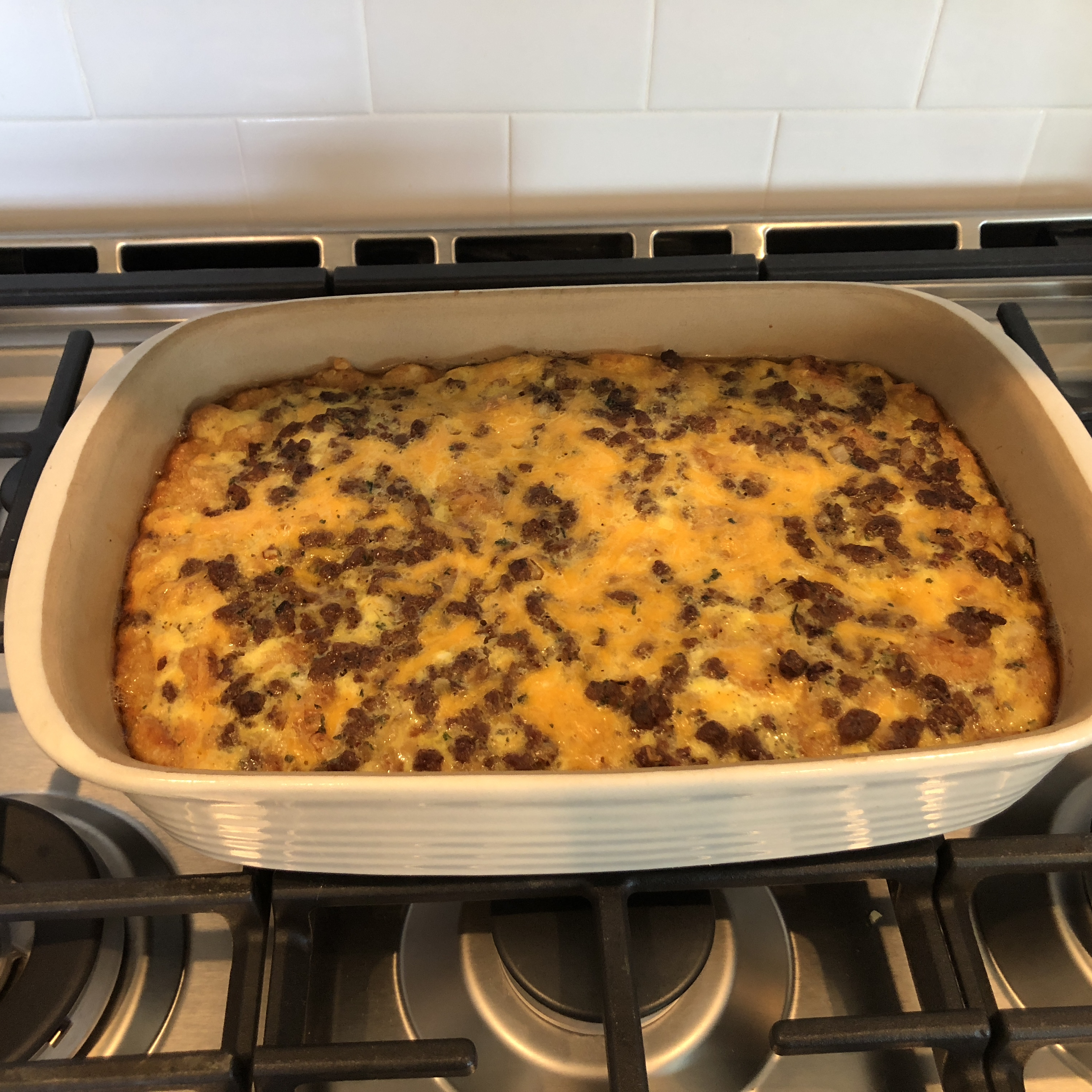 Potato and Cheese Breakfast Casserole lgdippy