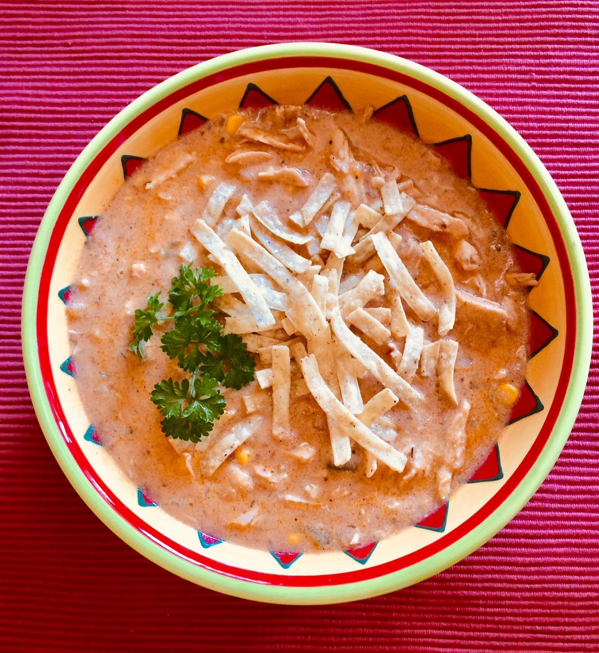 Creamy Chicken Tortilla Soup