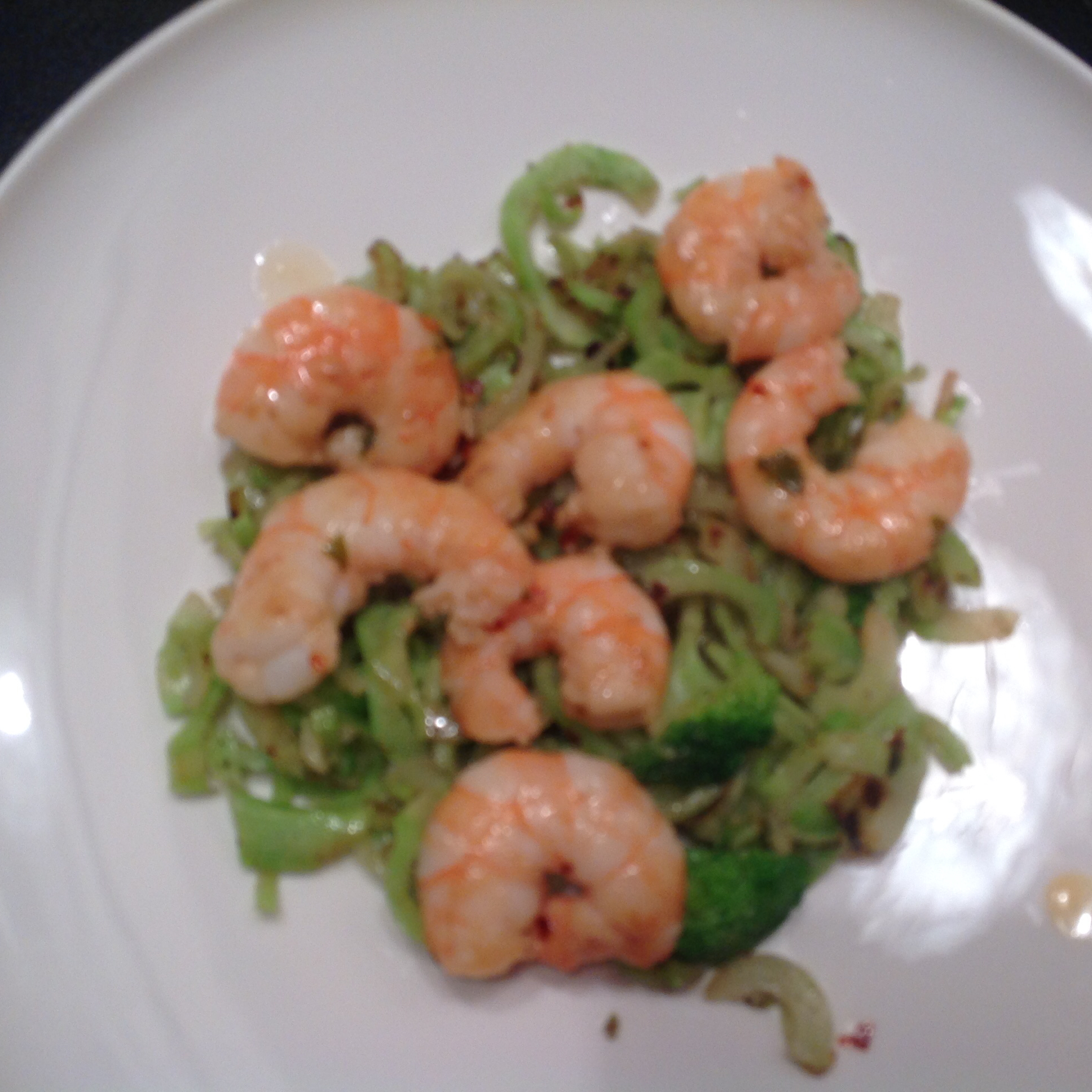Keto Shrimp Scampi with Broccoli Noodles