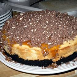 TOBLERONE-Topped Caramel Cheesecake