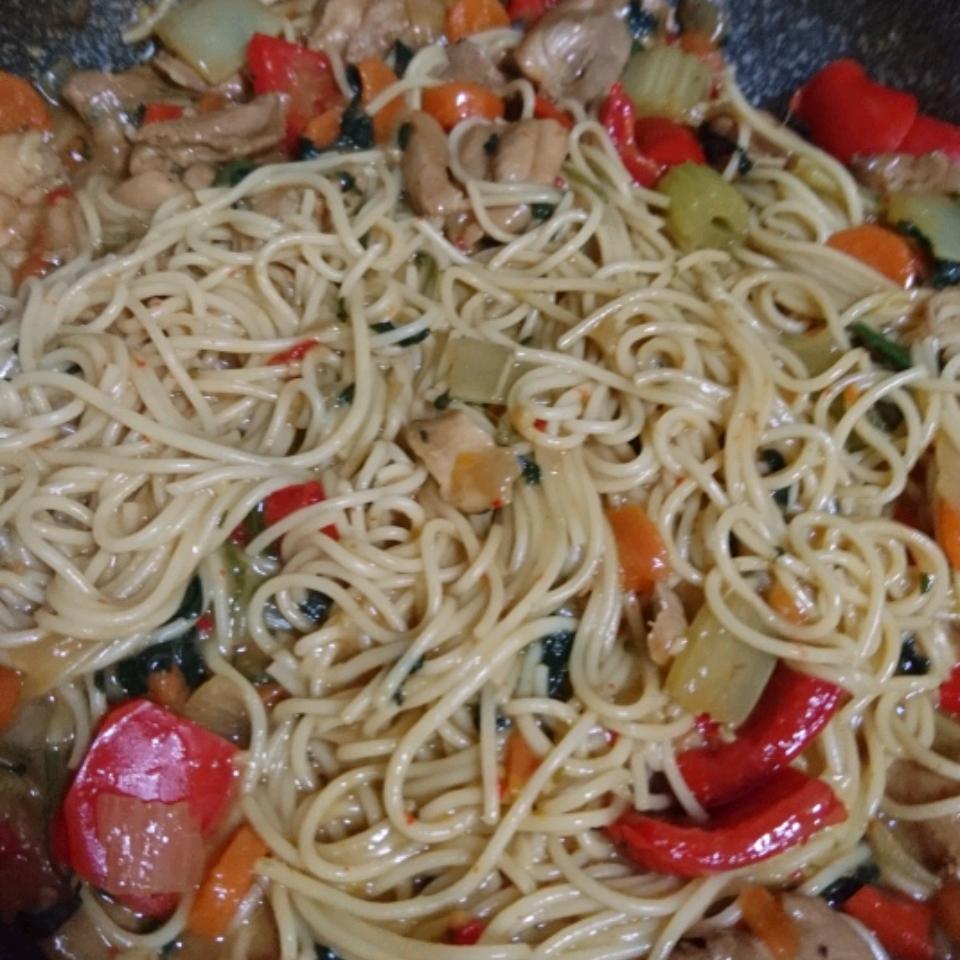 Thai Chicken Spaghetti Ashley