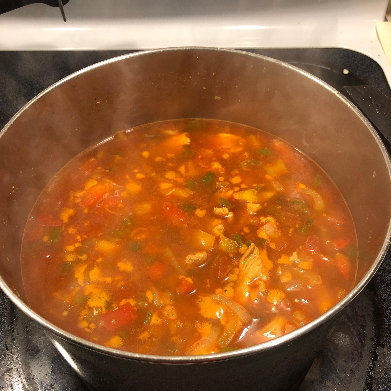 Easy Chicken Fajita Soup wasupwida