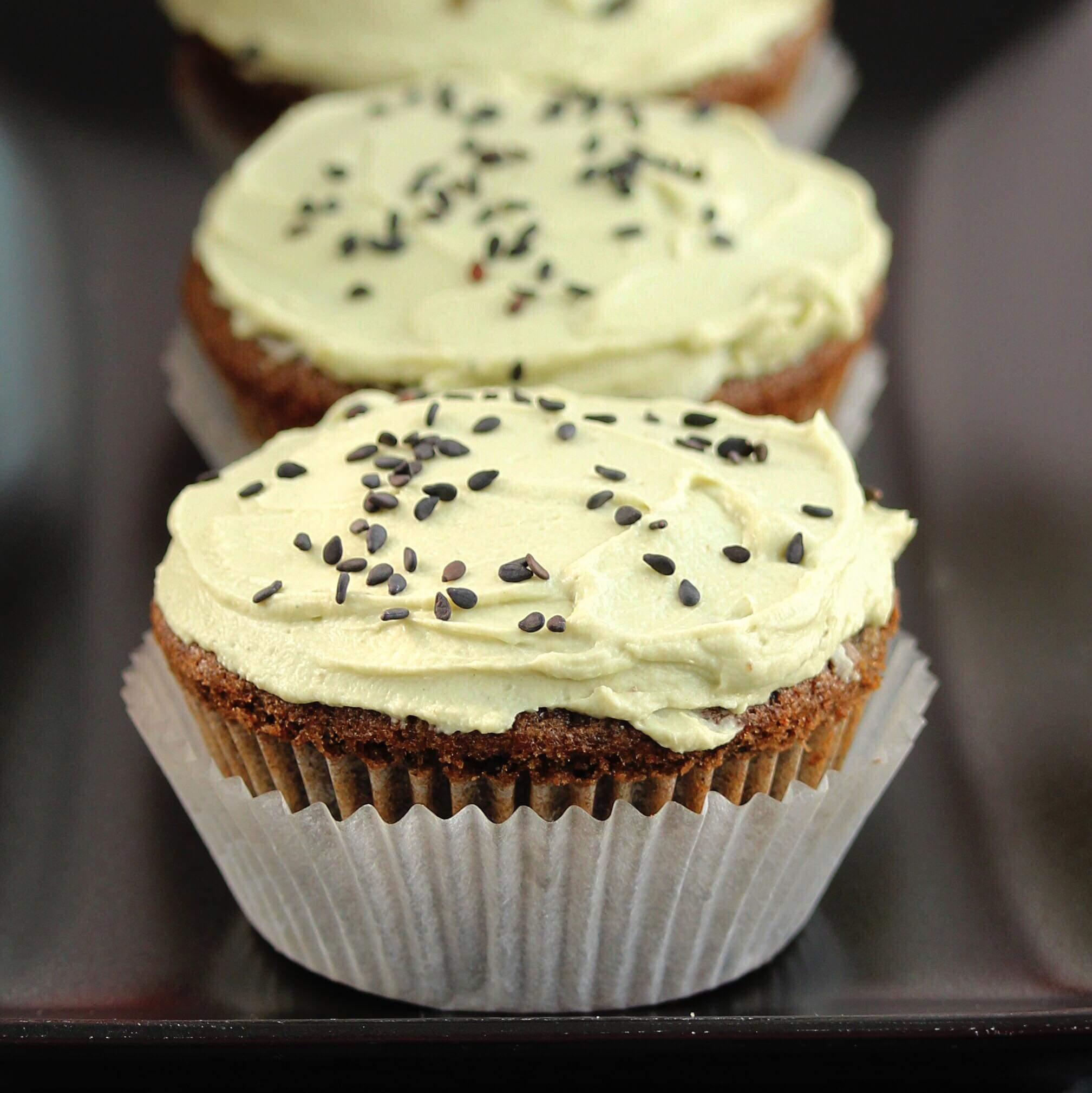 Black Sesame Cupcakes