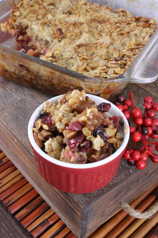 Tart Apple-Cranberry Crumble