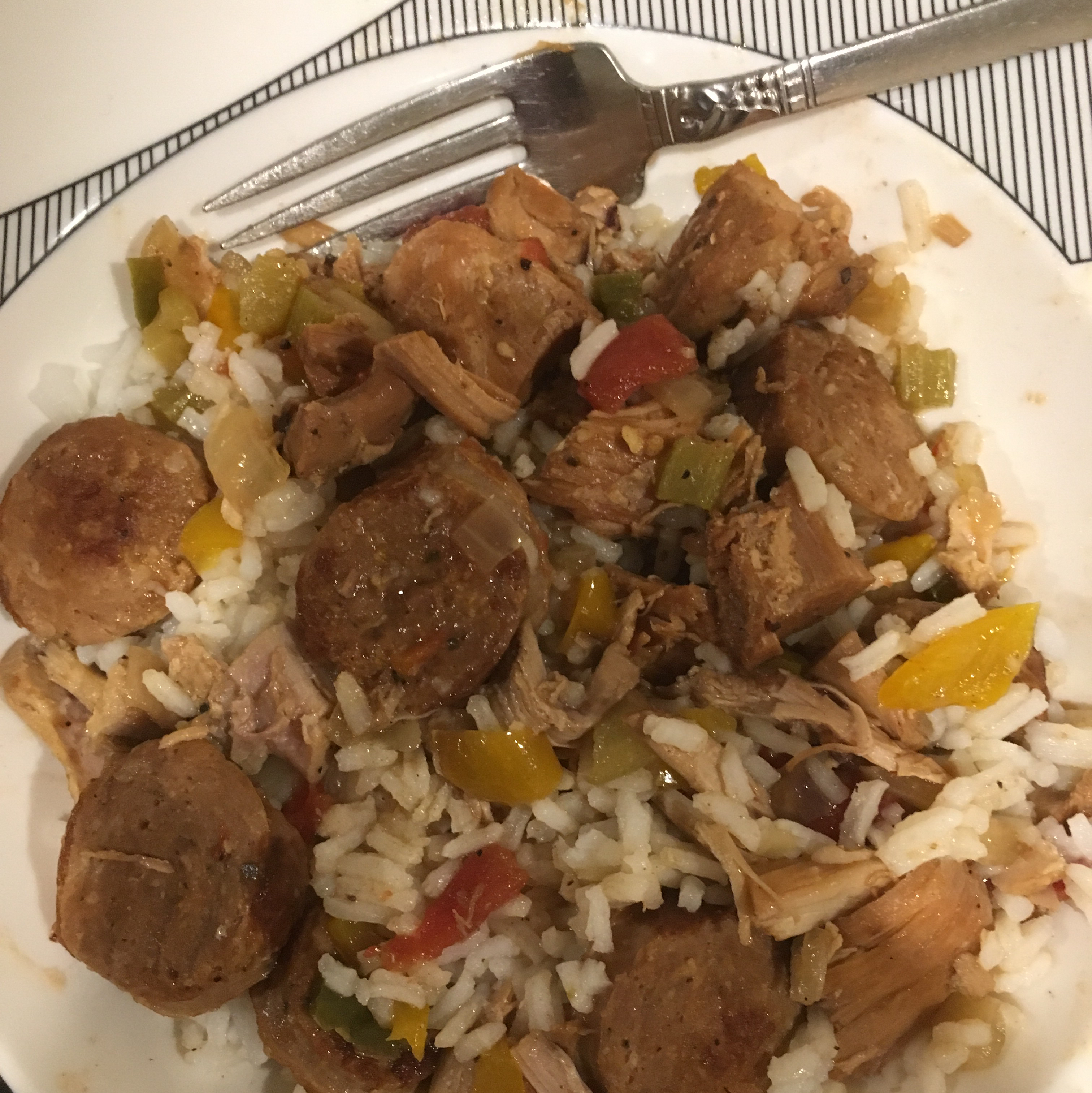 Slow-Cooked Chicken and Sausage Gumbo Mike
