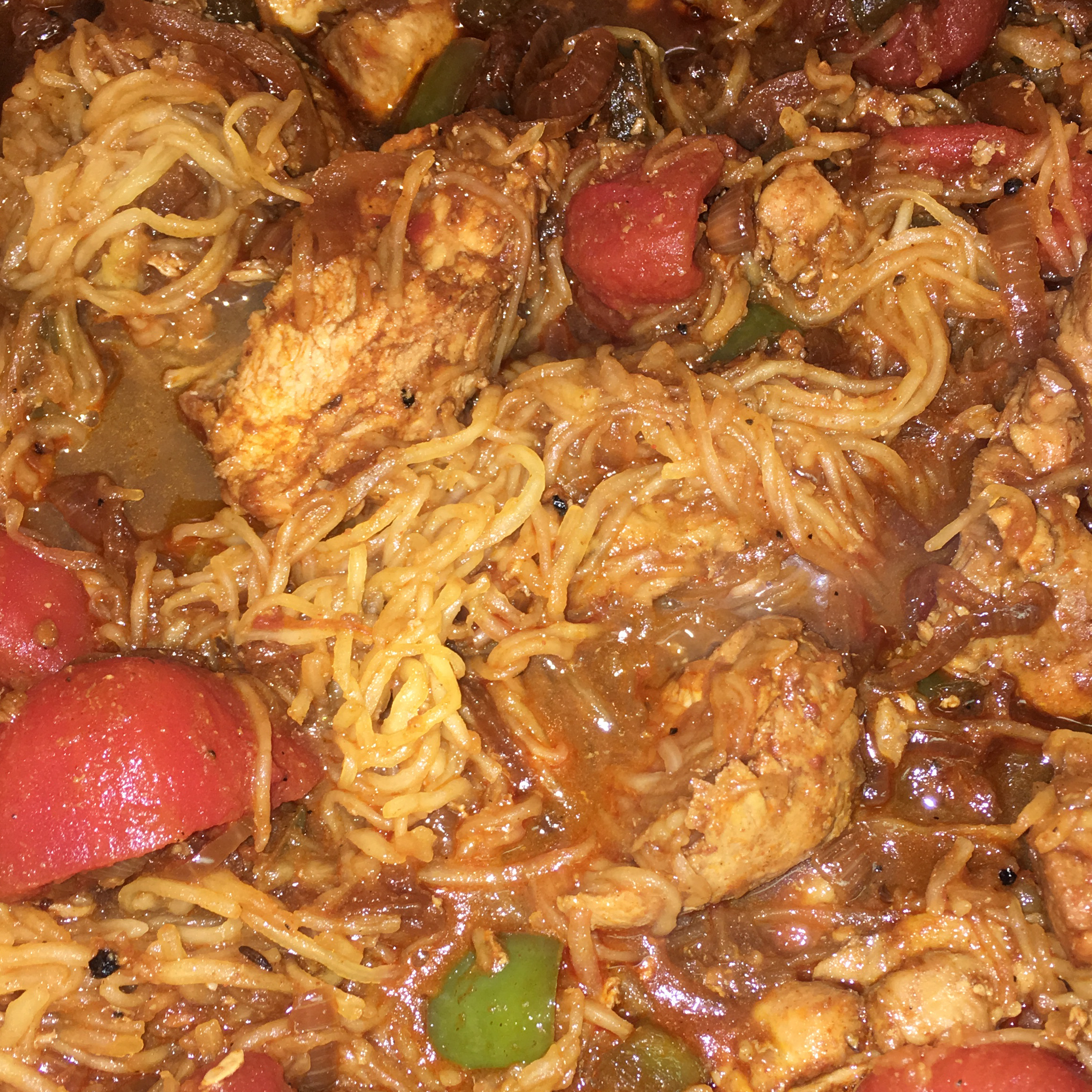 Chicken Paprika with Spaghetti Squash