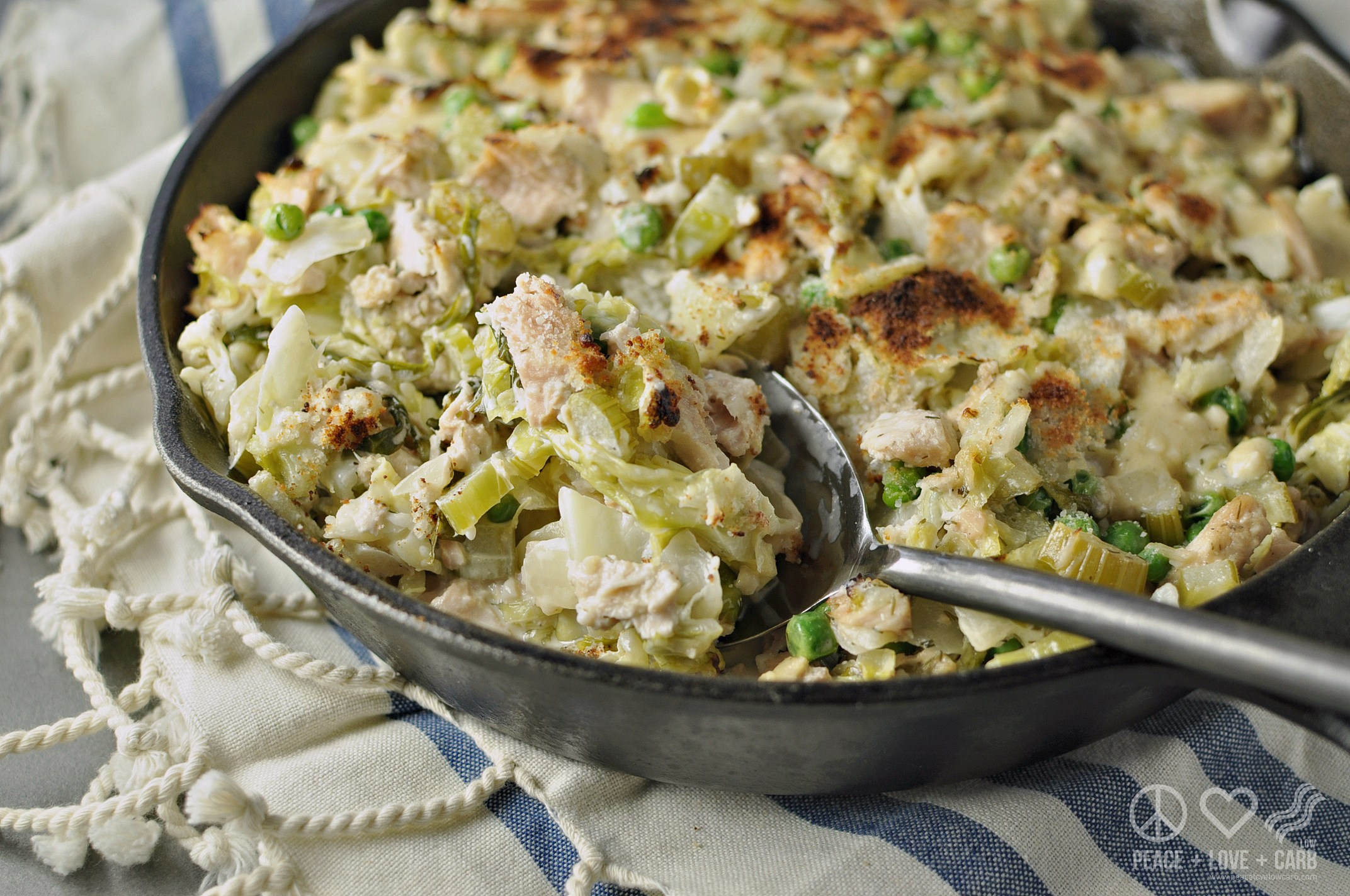Low-Carb Tuna Casserole with Cabbage Noodles