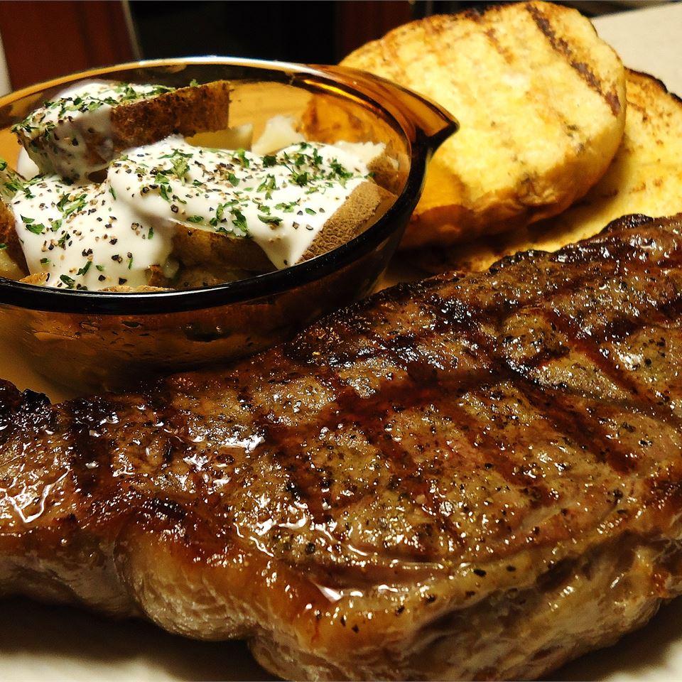 Bourbon Street New York Strip Steak hungryallweighs