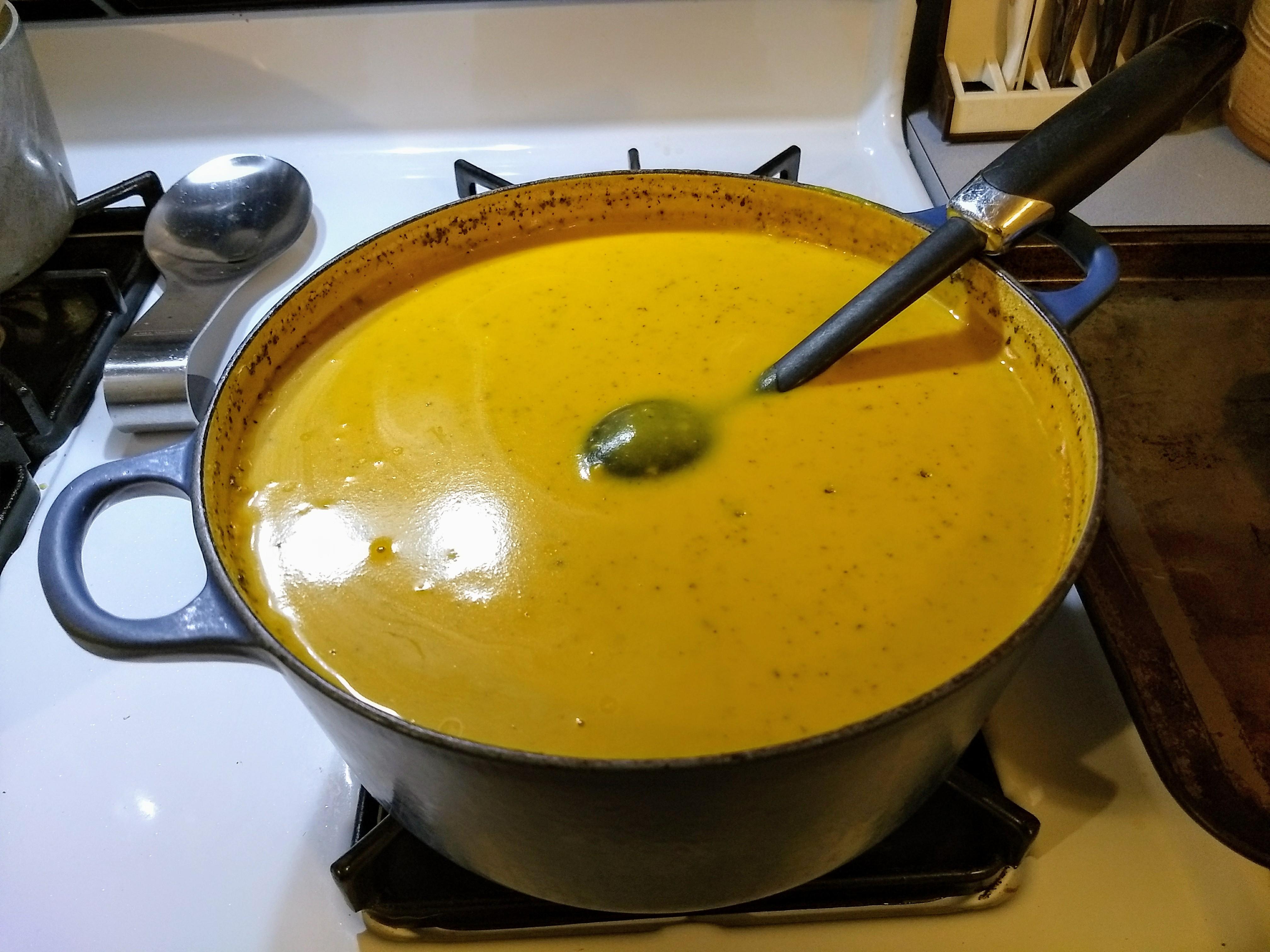 Buttercup Squash Soup KiltedYaksman