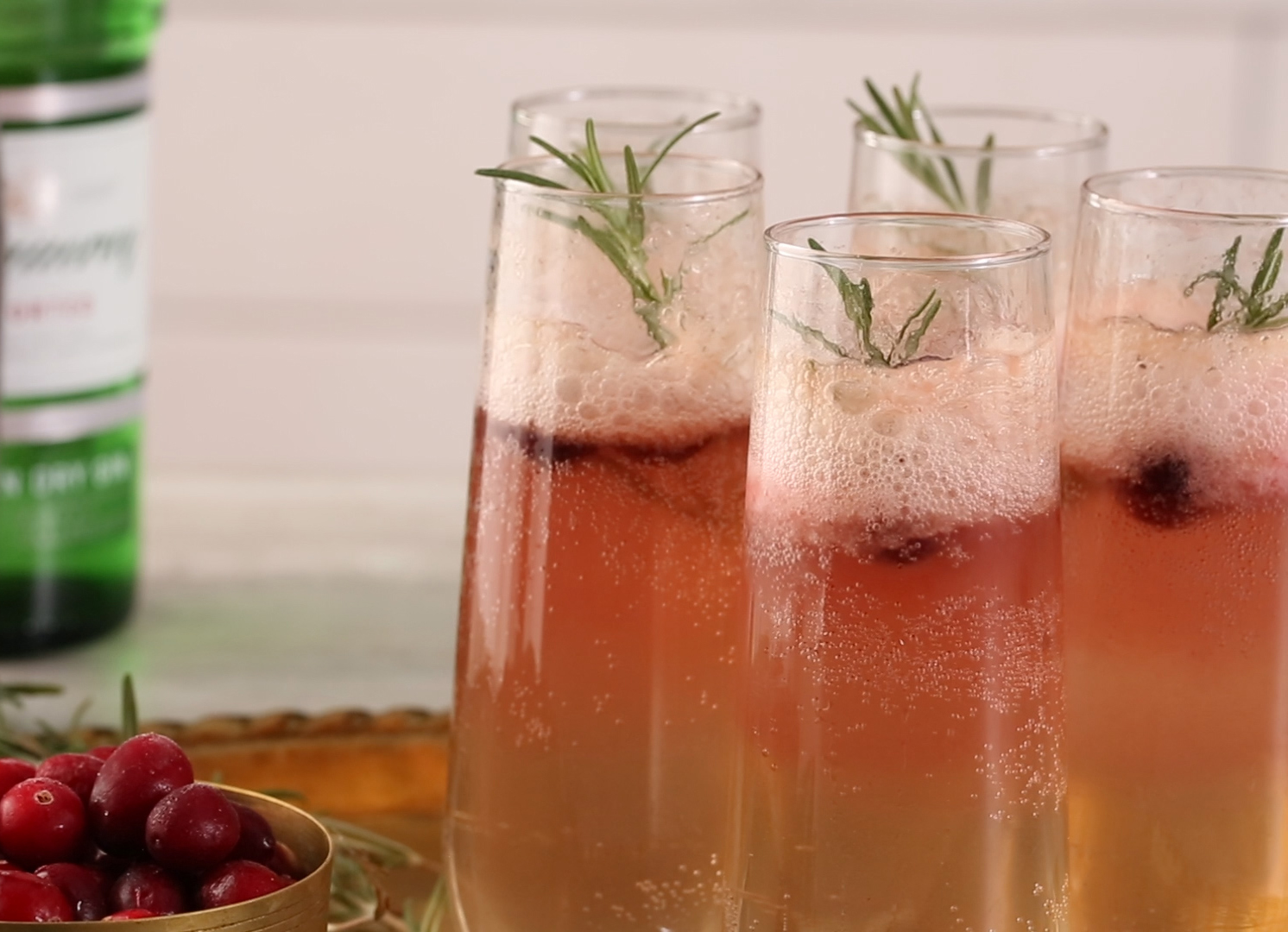 Cranberry-Rosemary Prosecco Float