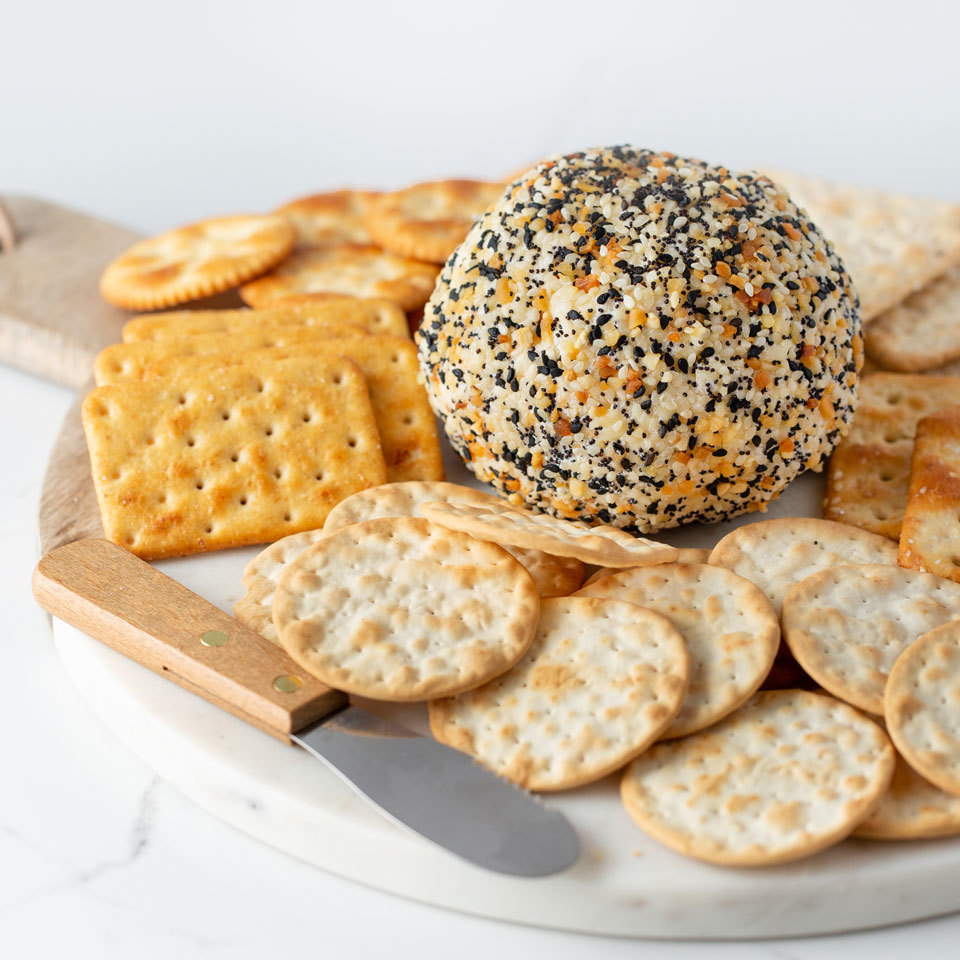 Everything Bagel Cheese Ball Melissa Fallon
