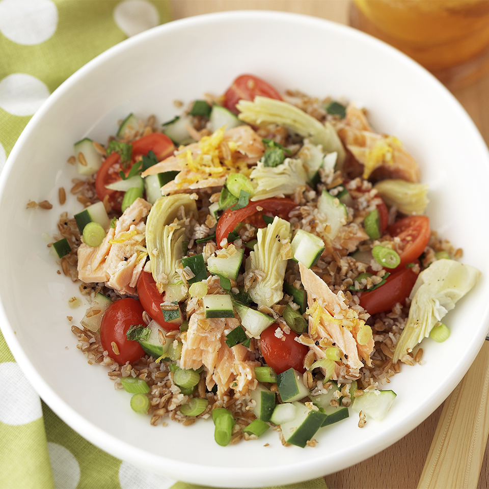 Chilled Salmon & Tabbouleh Diabetic Living Magazine
