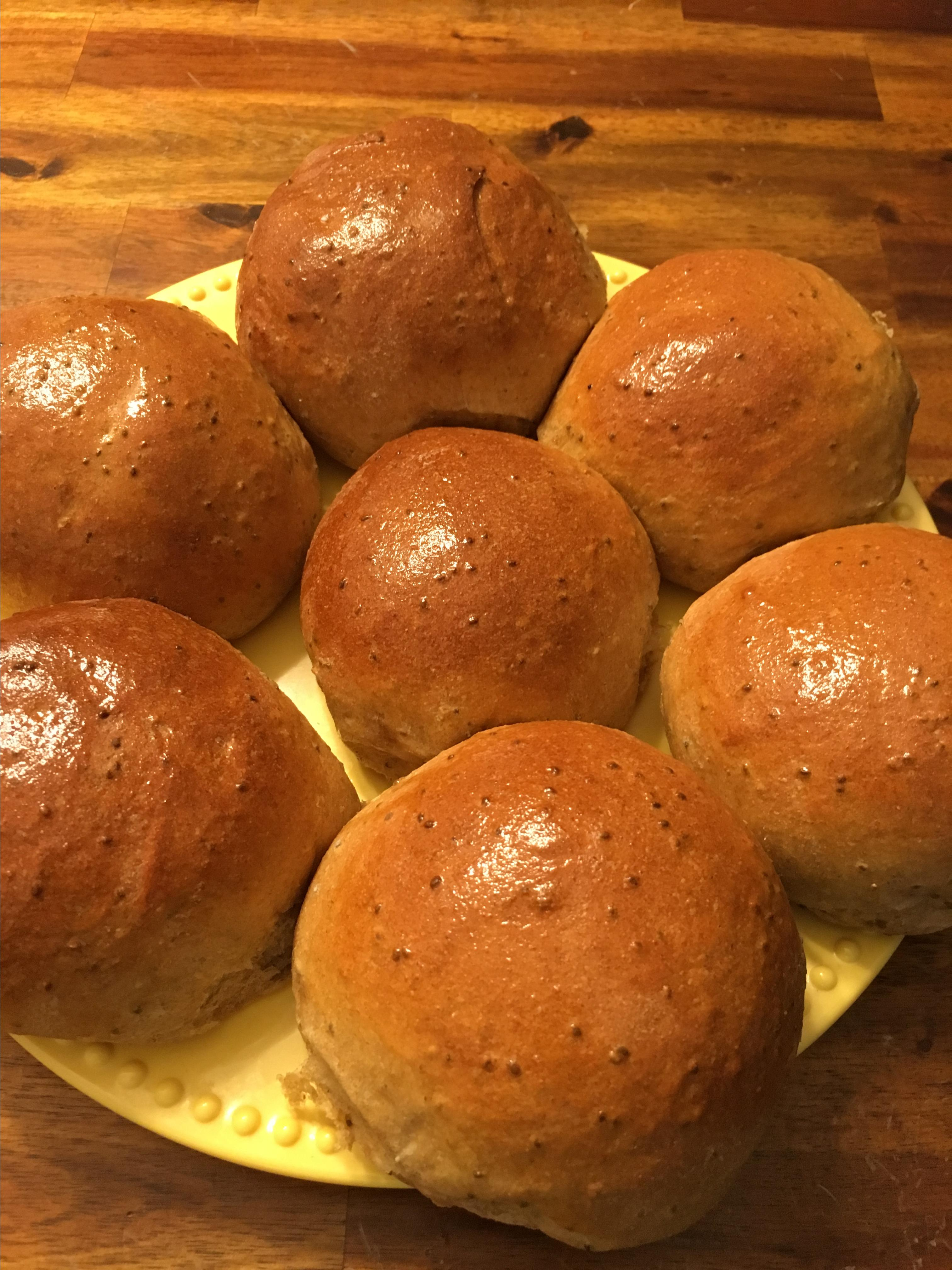 Healthy Whole Wheat Bread Machine Buns
