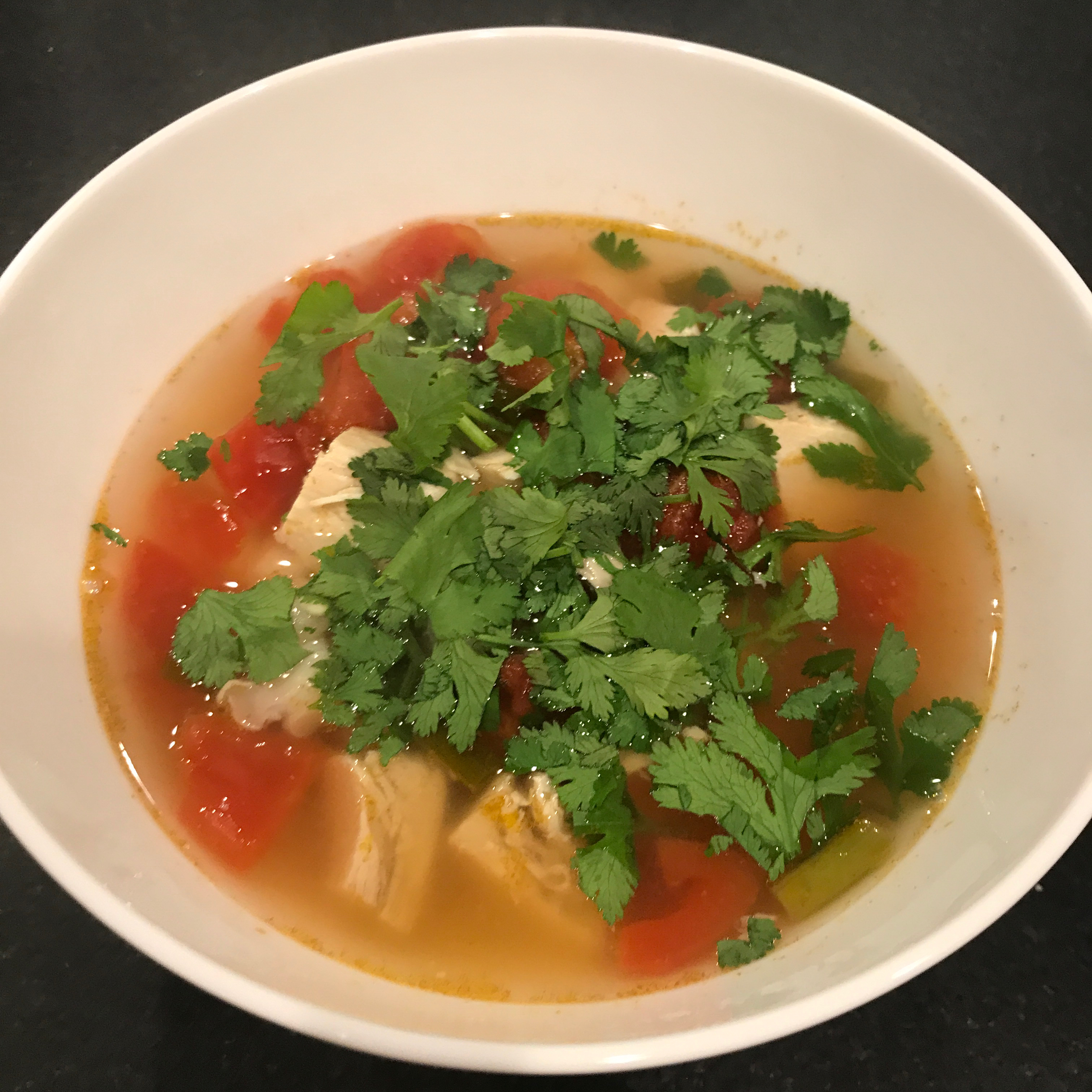 Chicken and Hominy Soup with Lime and Cilantro David Dea